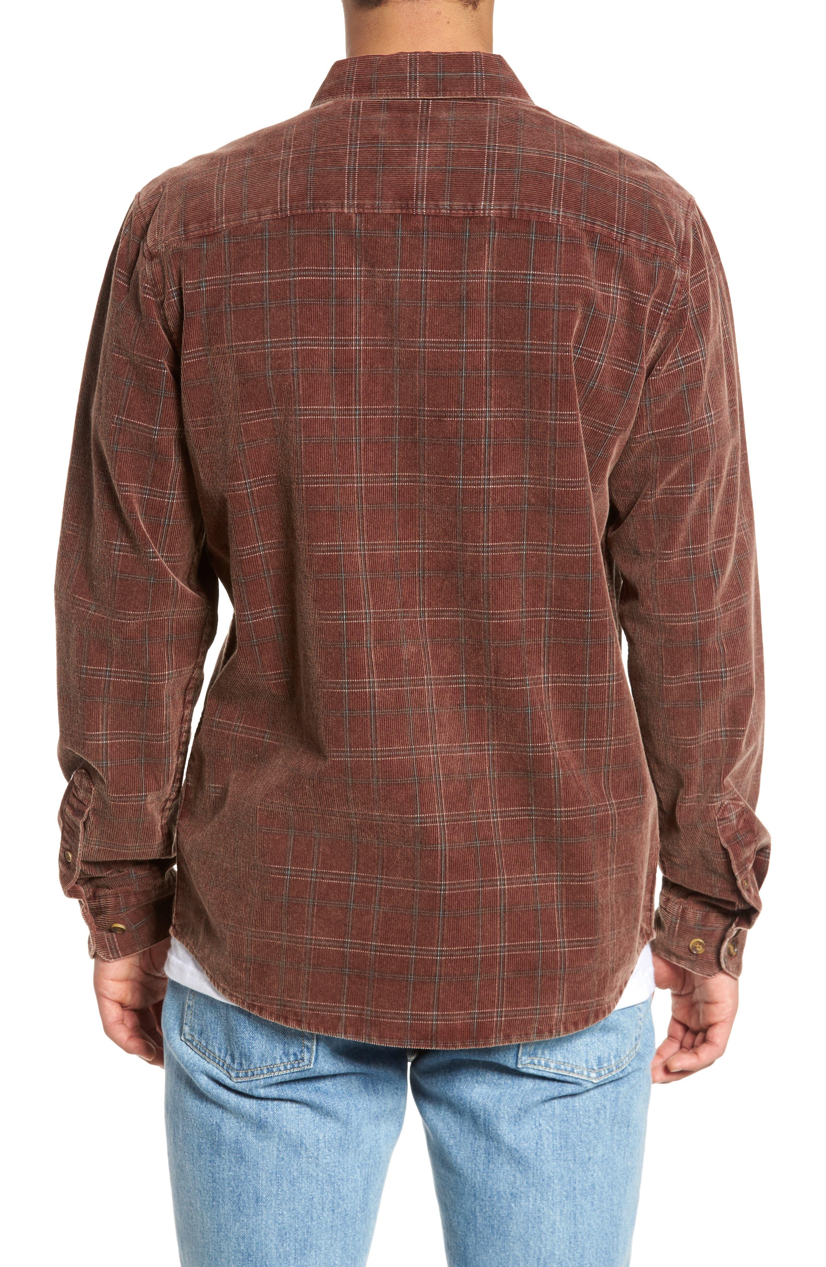 Bradley Corduroy Shirt,                             Alternate thumbnail 2, color,                             Burgundy