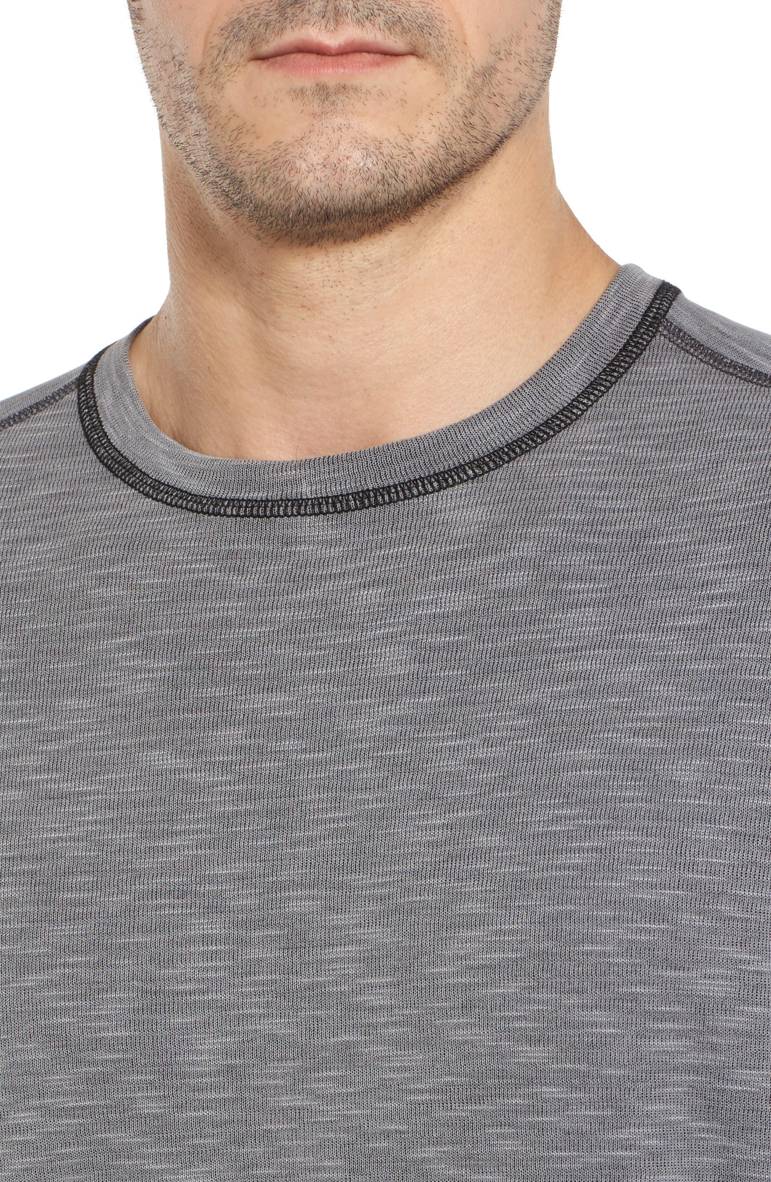 Flip Tide Long Sleeve T-Shirt,                             Alternate thumbnail 5, color,                             Coal