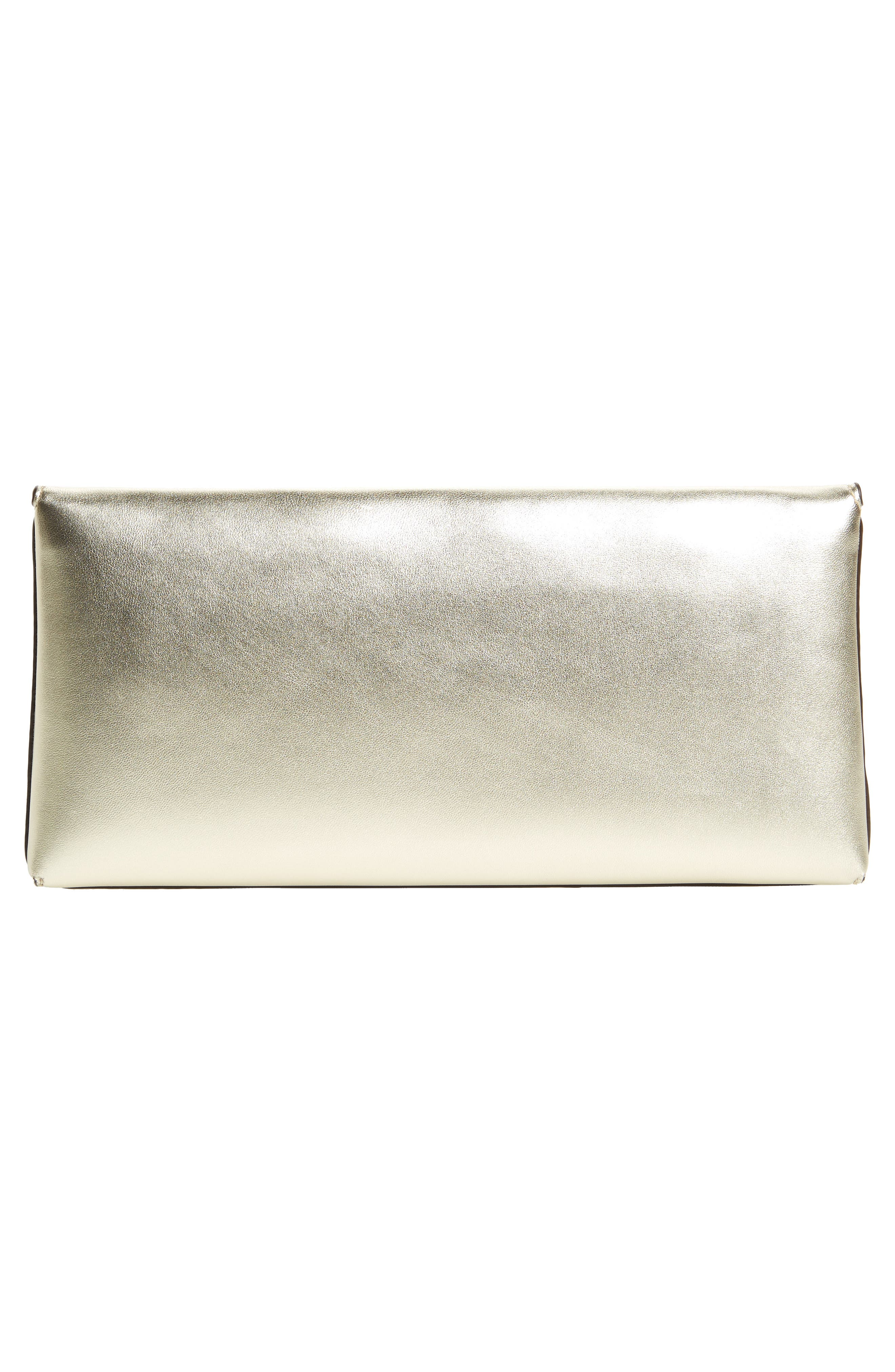 Miller Leather Clutch,                             Alternate thumbnail 3, color,                             Gold