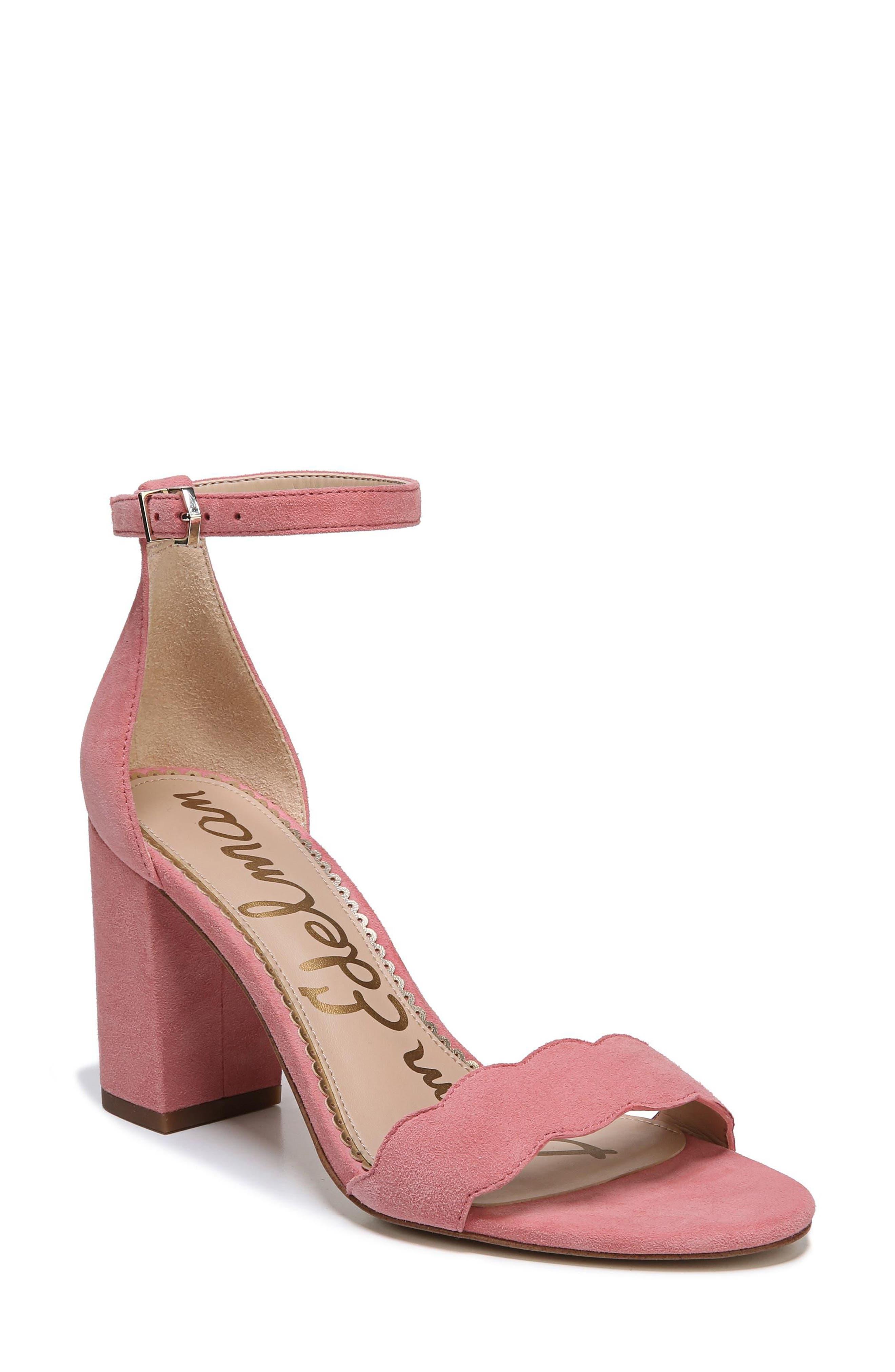 Odila Sandal,                             Main thumbnail 1, color,                             Pink Lemonade Suede