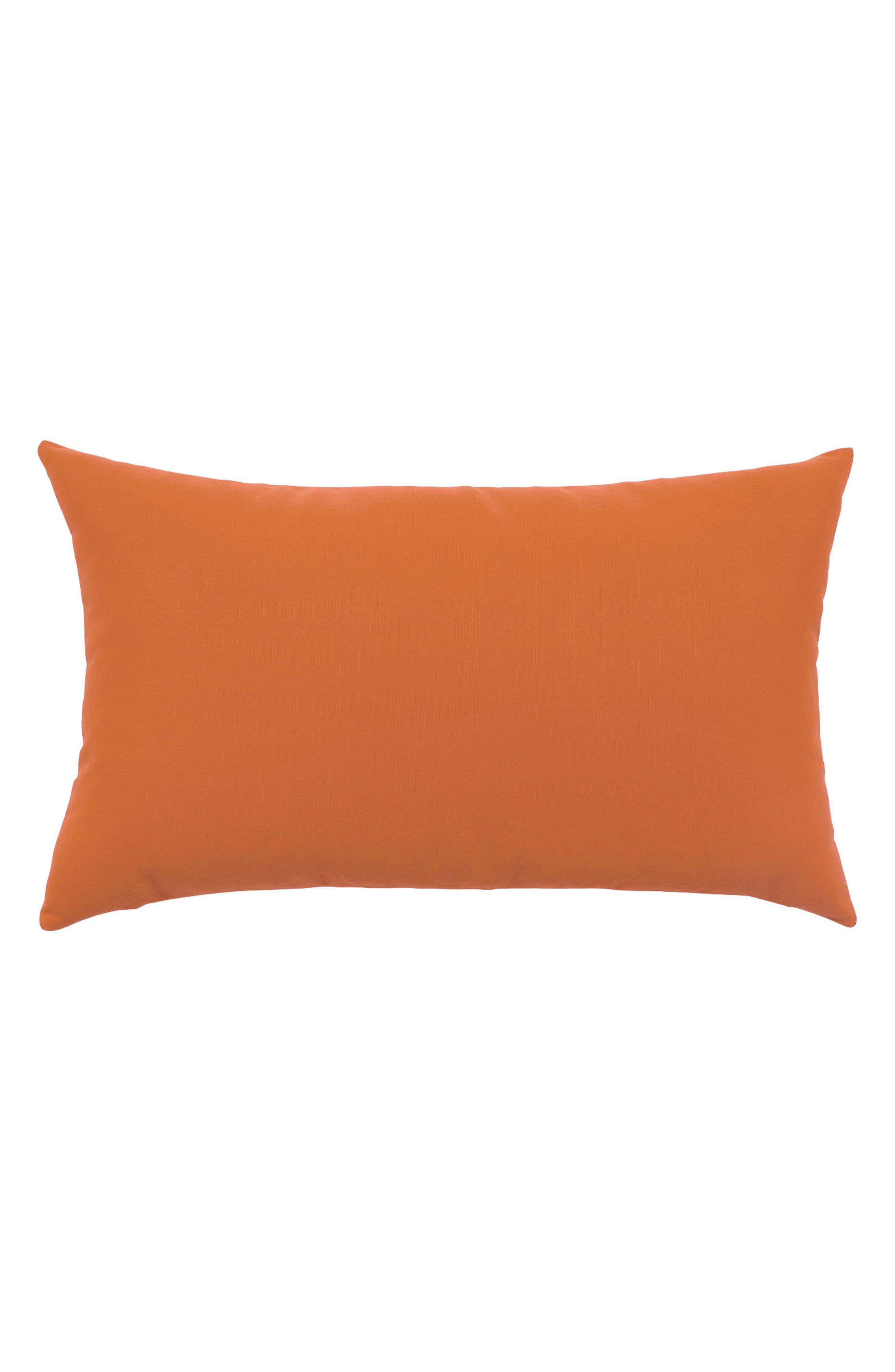 Basket Weave Indoor/Outdoor Accent Pillow,                             Alternate thumbnail 2, color,                             Orange