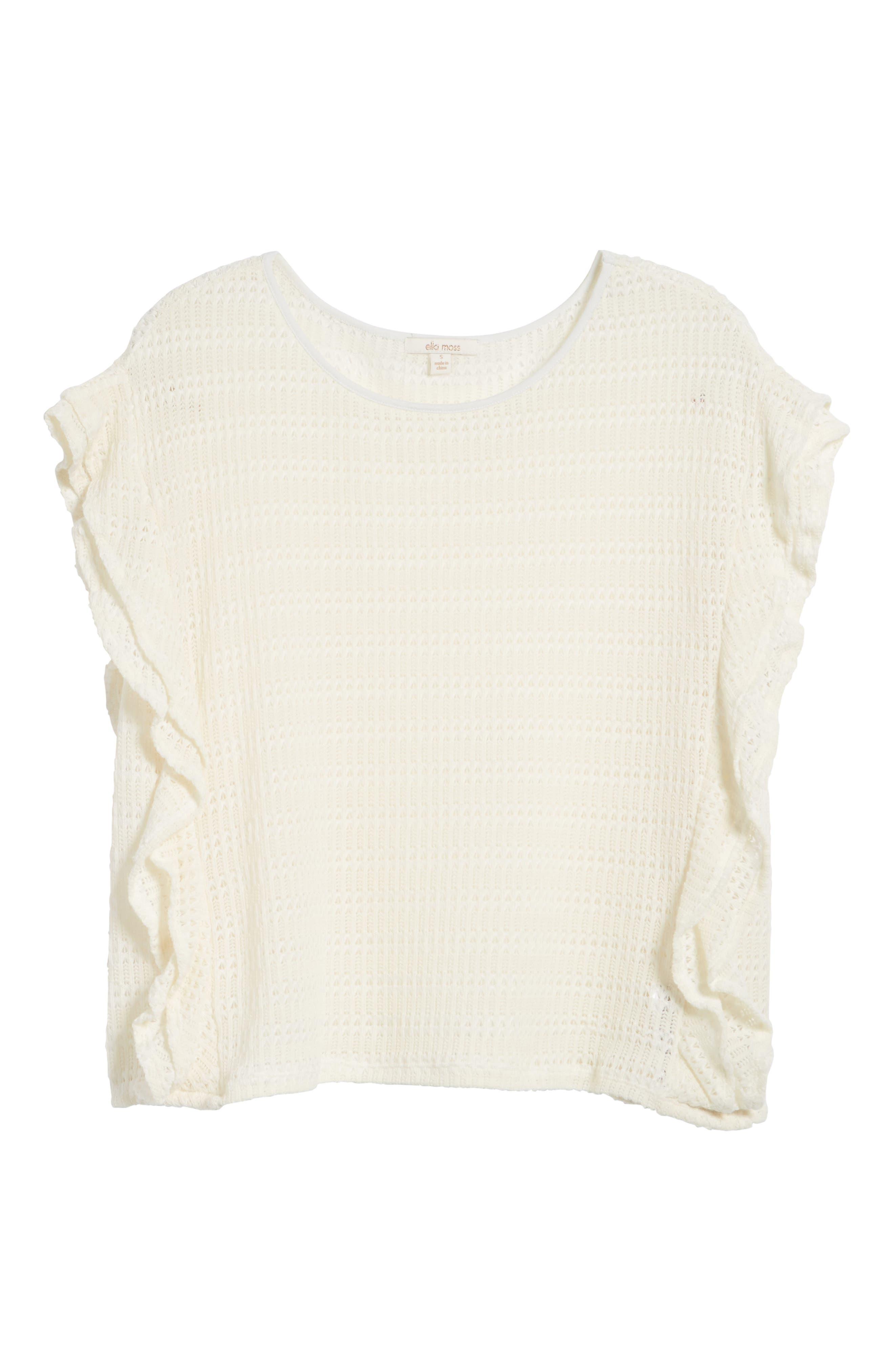 Alternate Image 6  - Ella Moss Crochet Pullover Top