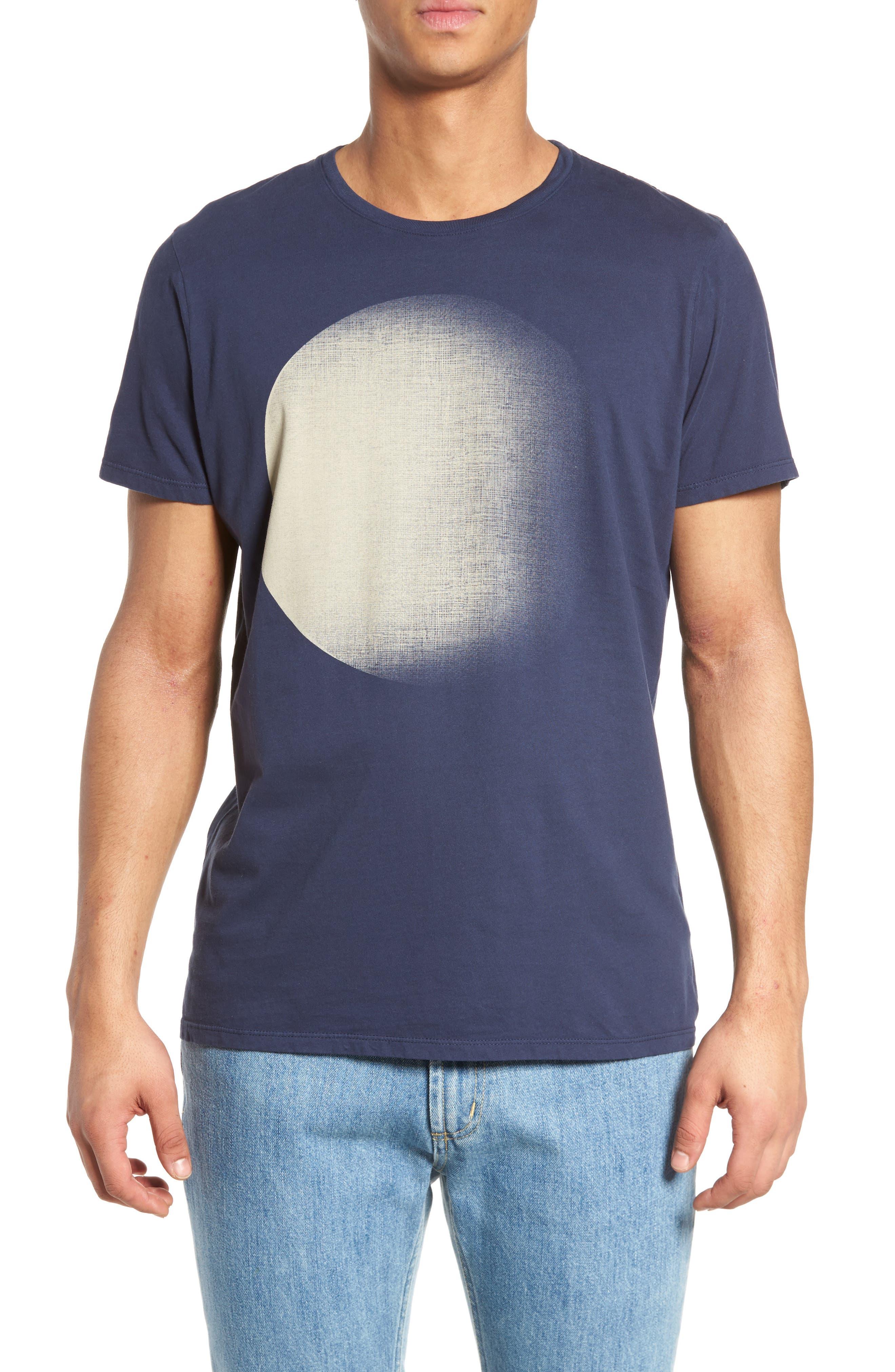 Dark Moon Graphic T-Shirt,                         Main,                         color, Navy