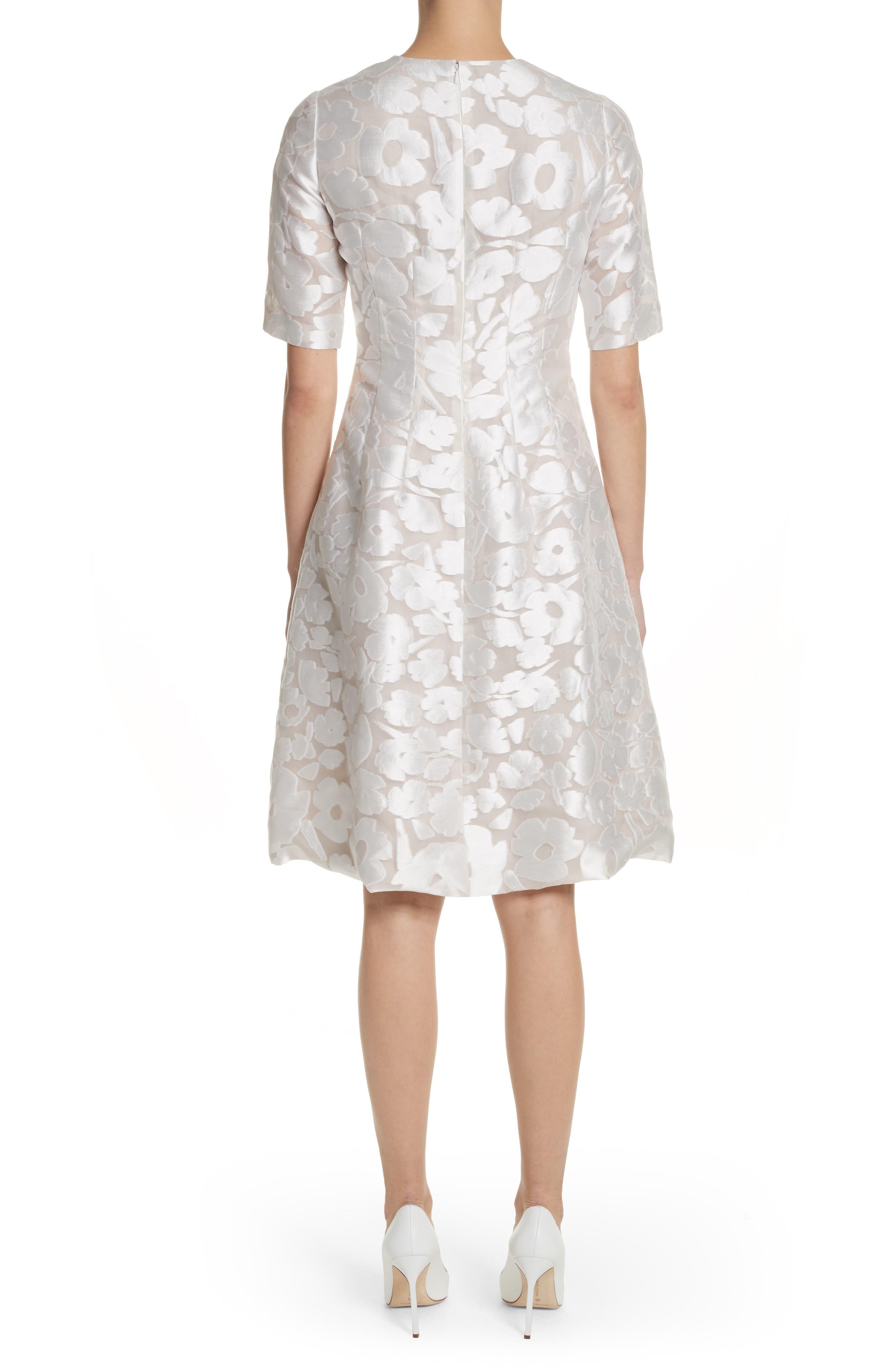 Holly Flower Print Dress,                             Alternate thumbnail 2, color,                             White