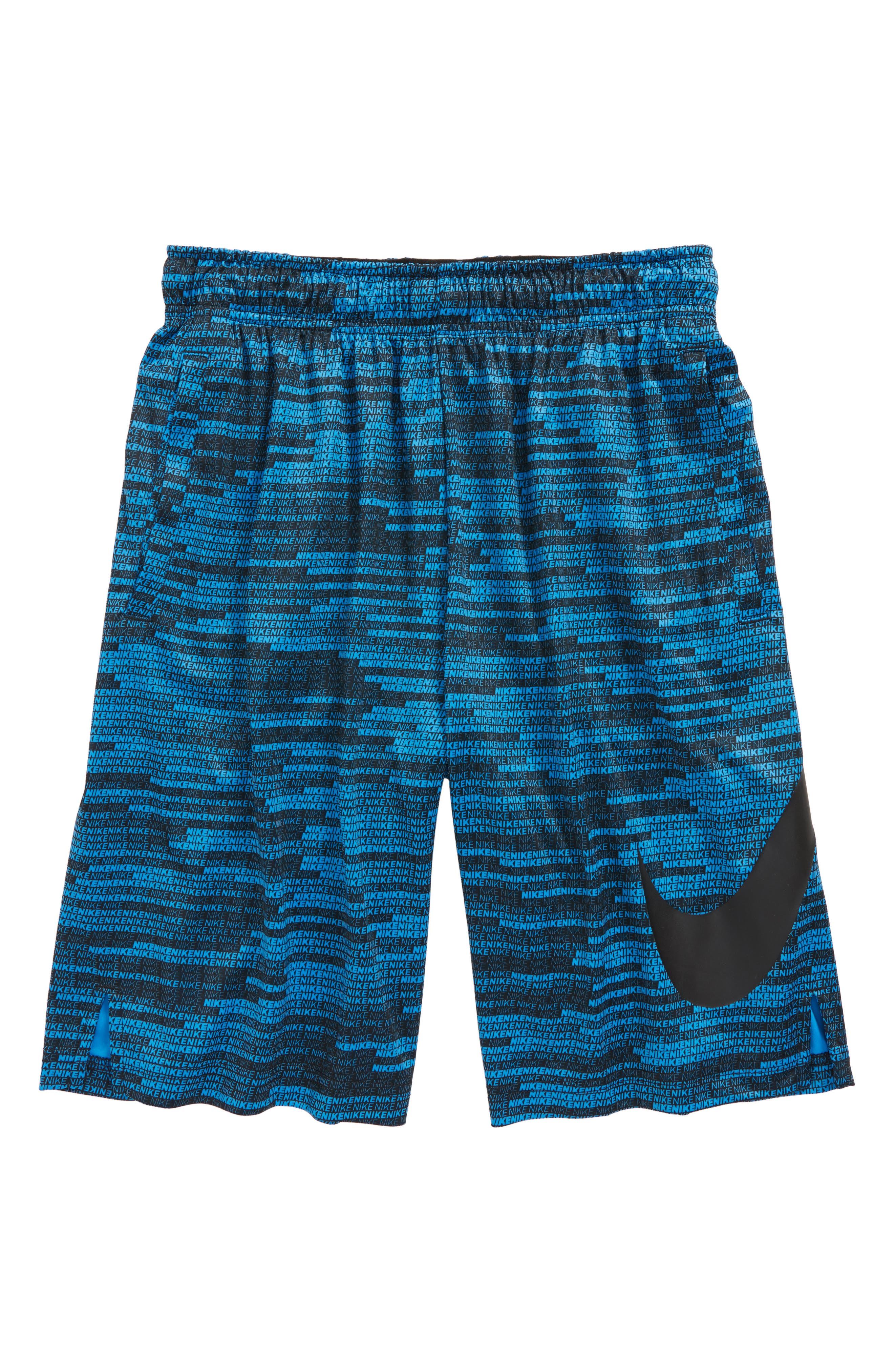 Dry Training Shorts,                         Main,                         color, Blue/ Black