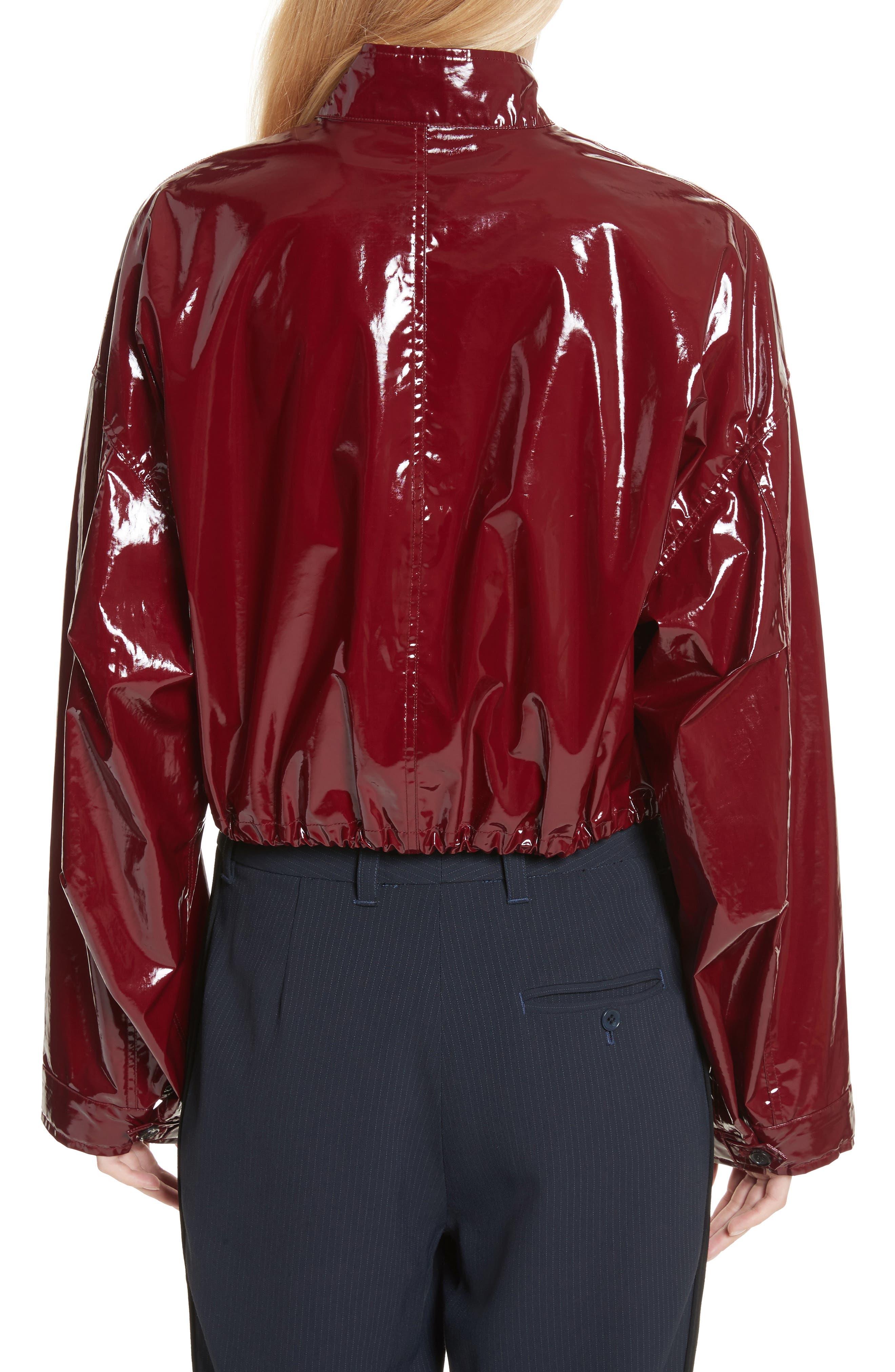 Coated Jacket,                             Alternate thumbnail 2, color,                             Burgundy