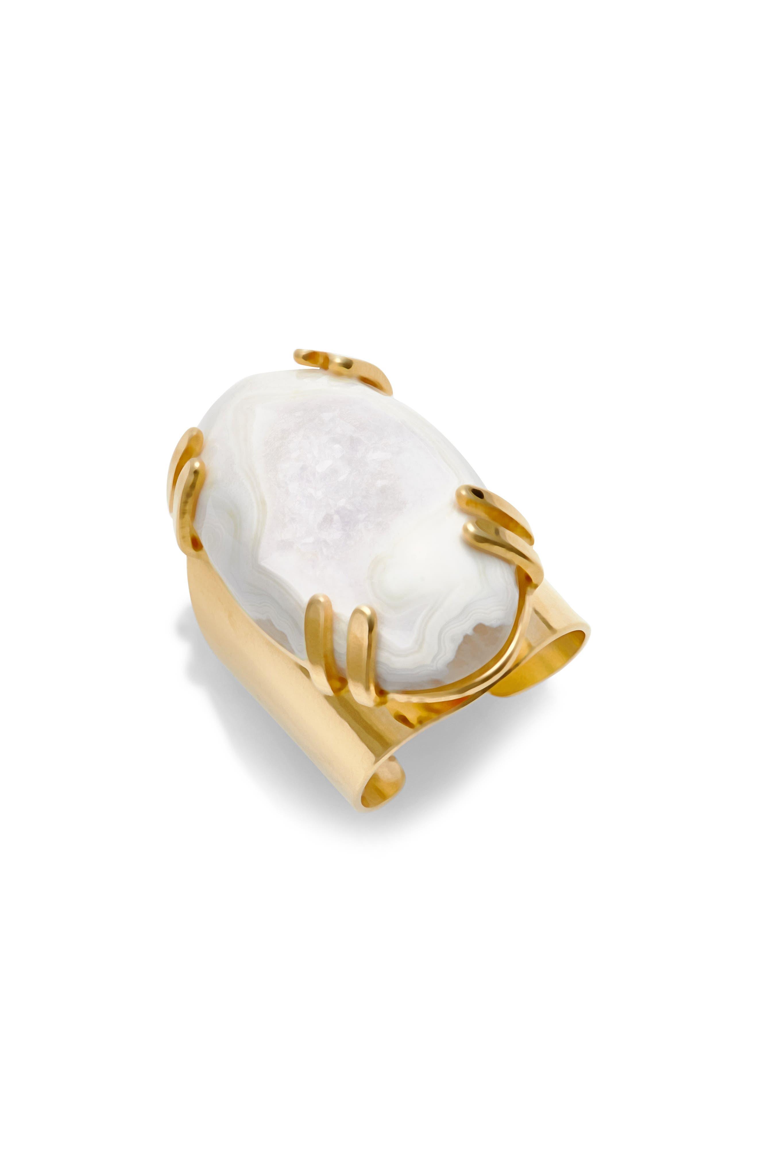 Nakamol Design Drusy Agate Adjustable Ring