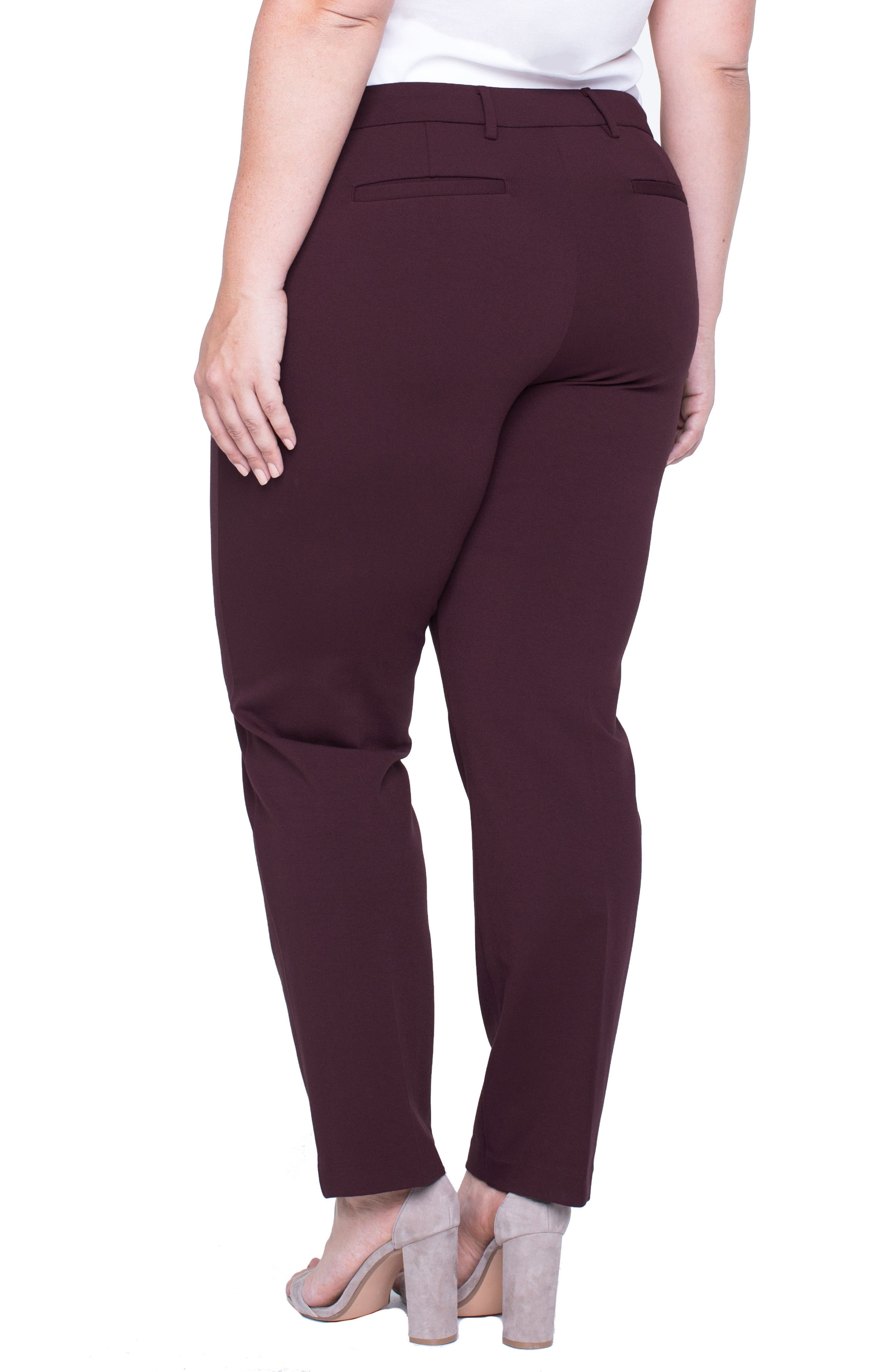 Alternate Image 2  - Liverpool Jeans Company Kelsey Ponte Knit Trousers (Plus Size)
