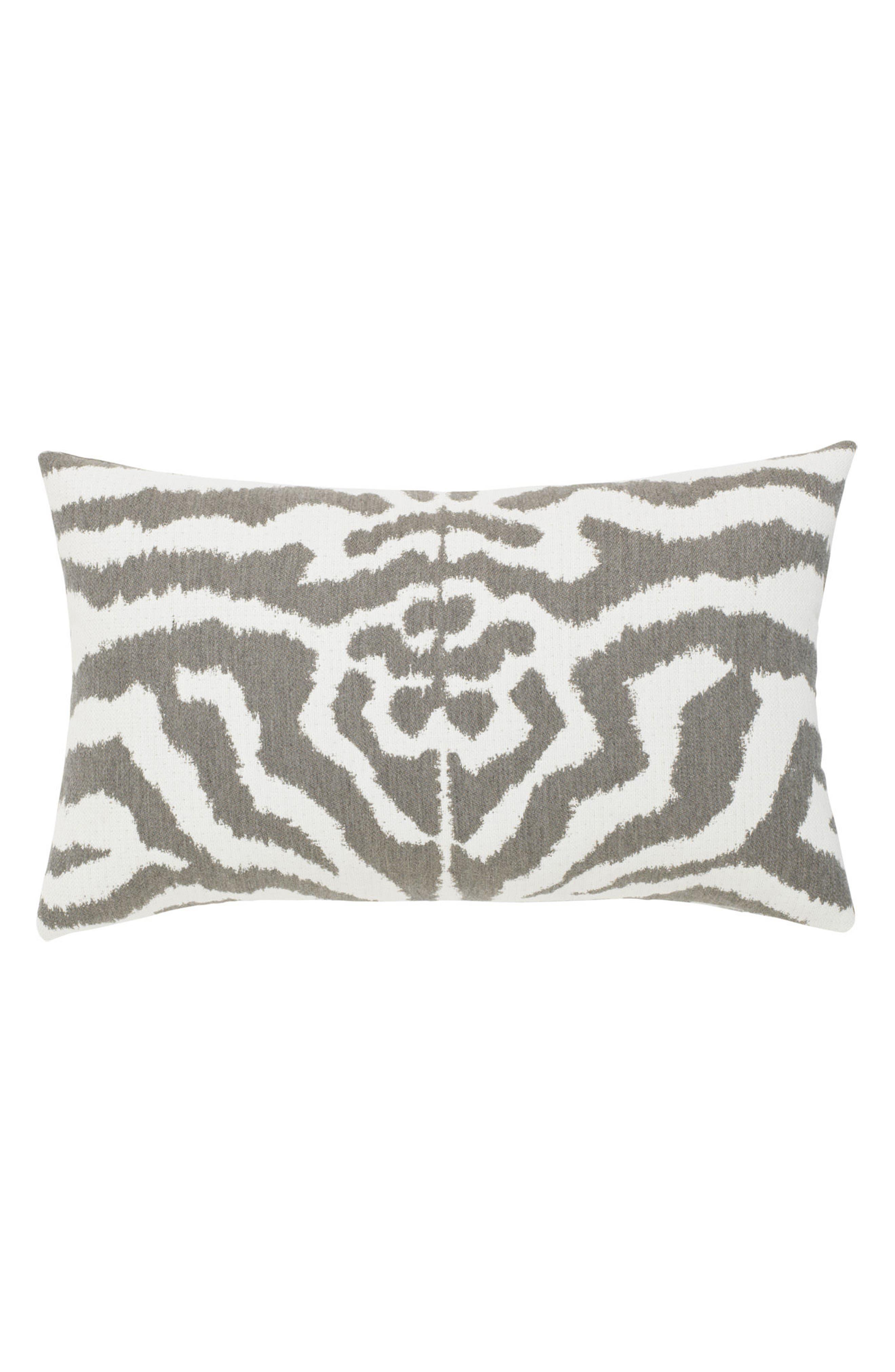 Alternate Image 3  - Elaine Smith Zebra Gray Indoor/Outdoor Accent Pillow