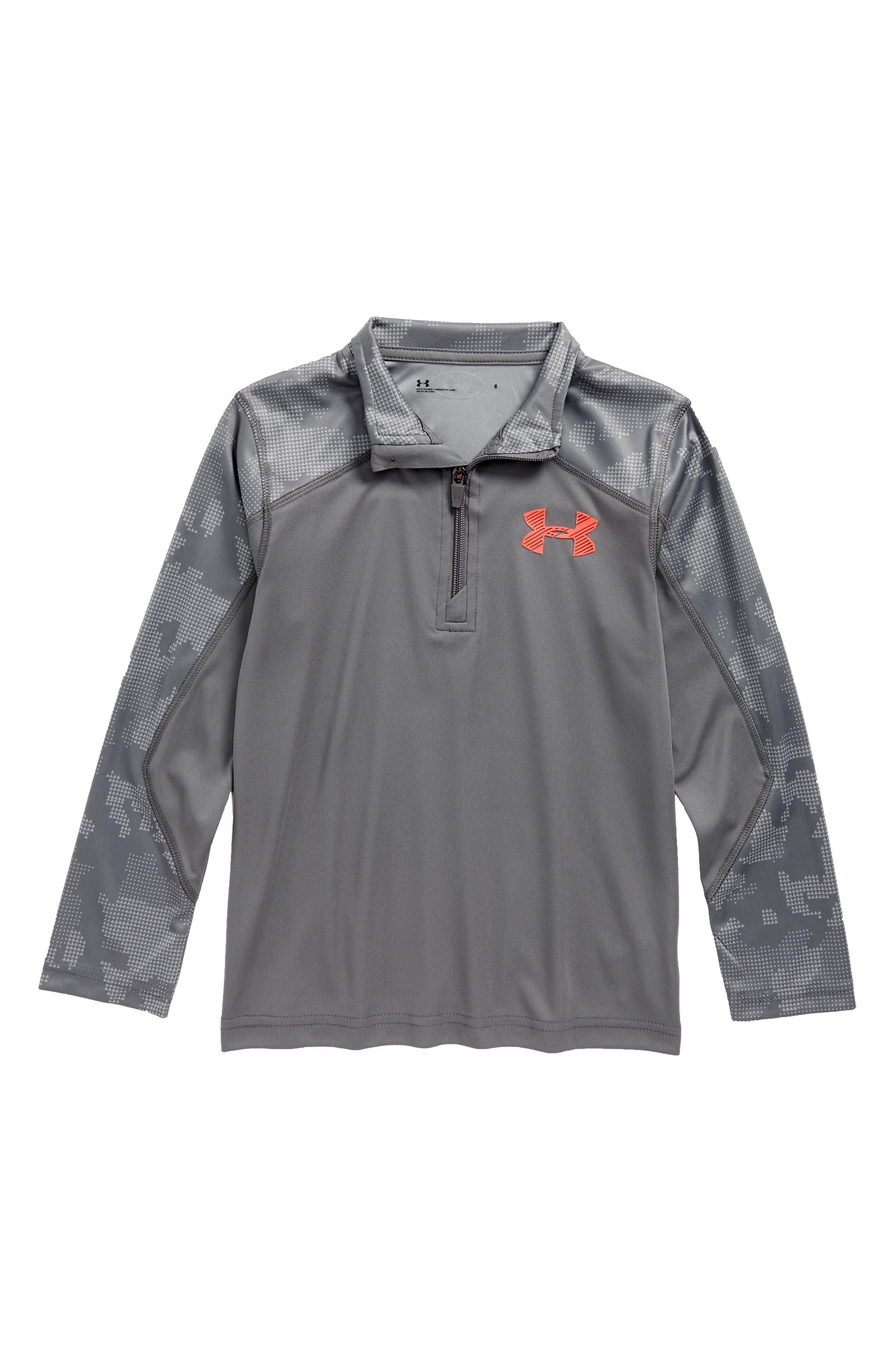 Utility Quarter Zip Pullover,                         Main,                         color, Graphite