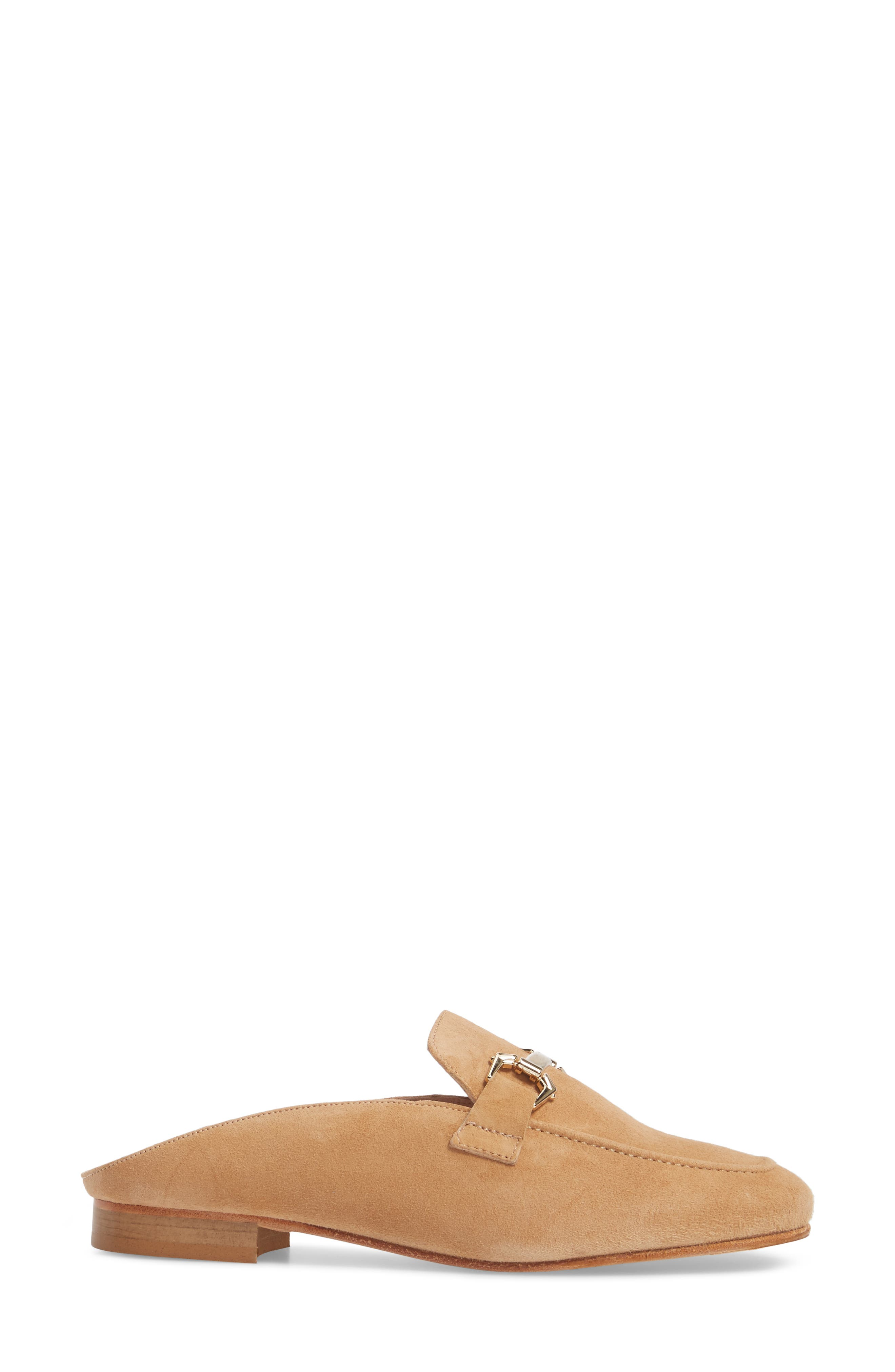 Sorrento Too Mule,                             Alternate thumbnail 3, color,                             Camel Suede