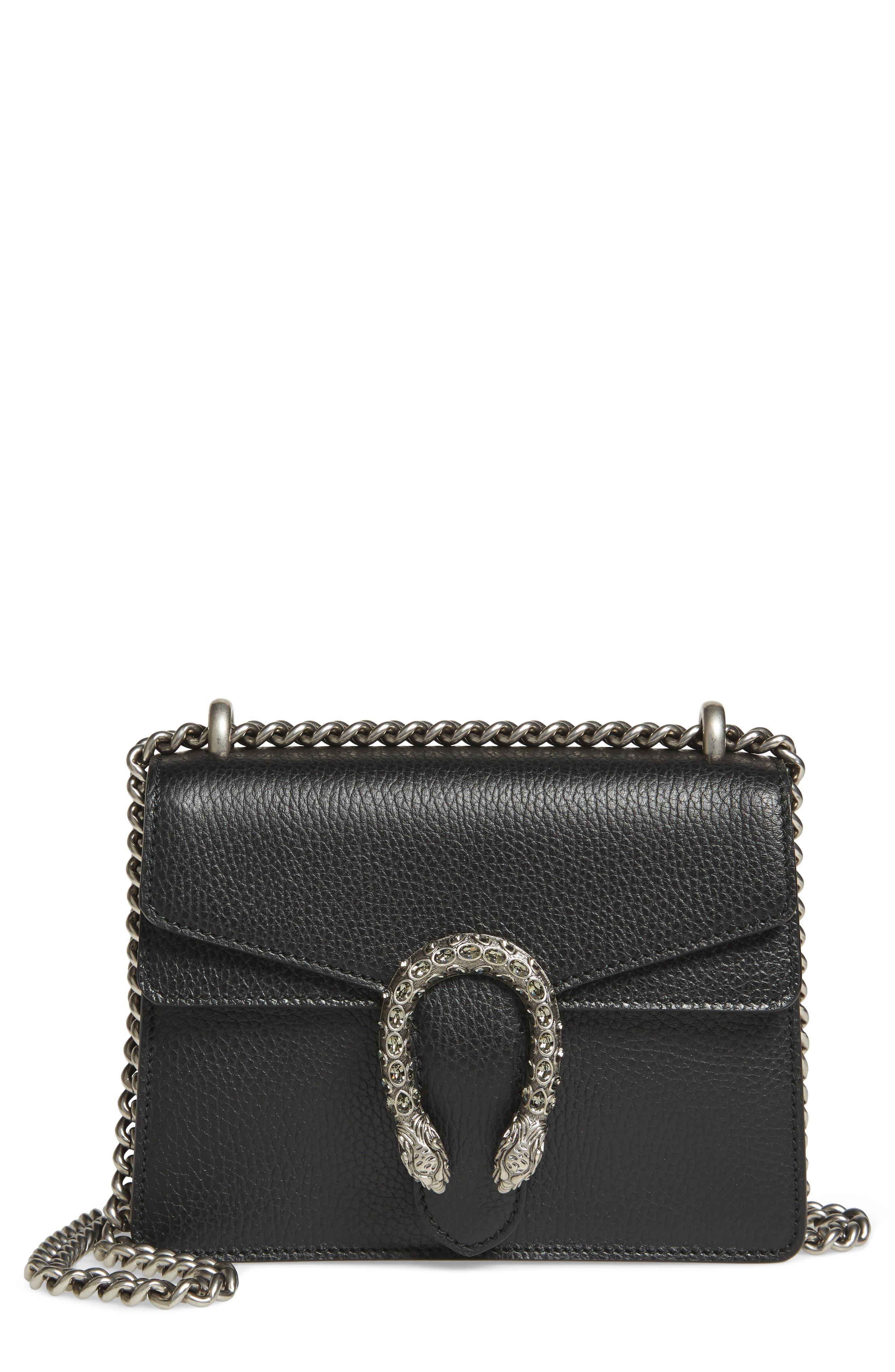 Alternate Image 1 Selected - Gucci Mini Dionysus Leather Shoulder Bag