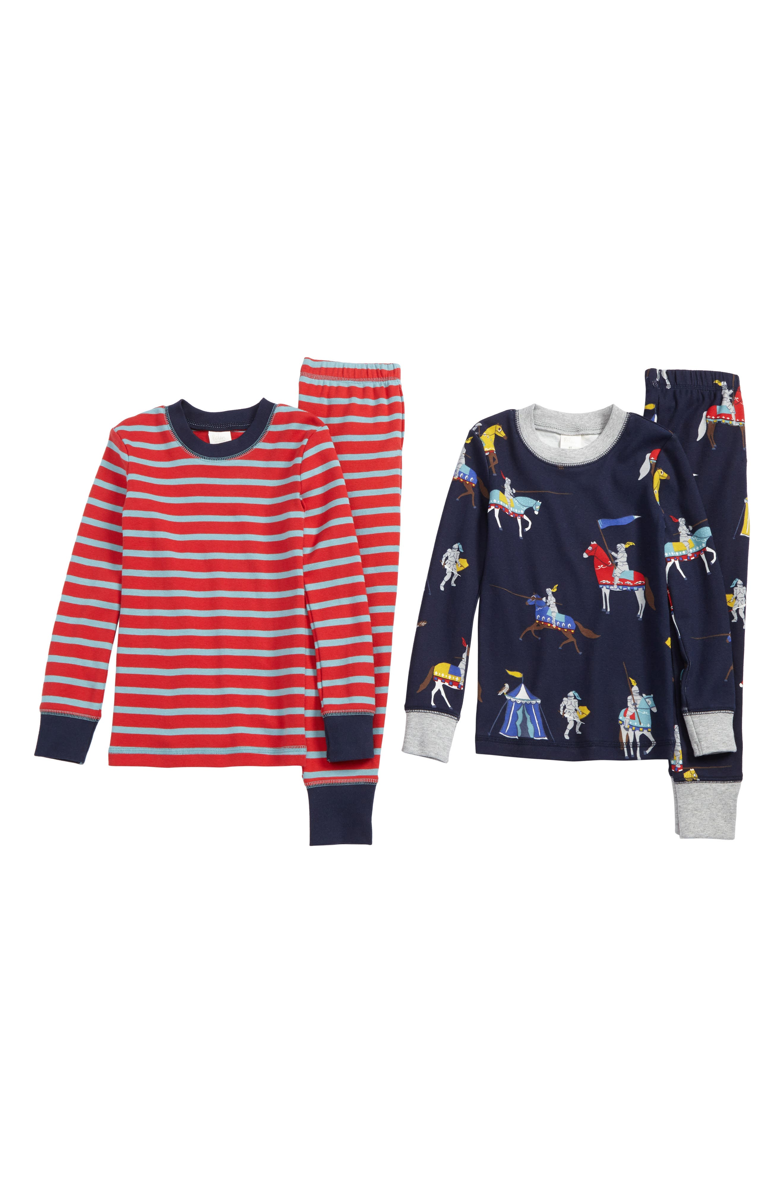 Alternate Image 1 Selected - Mini Boden Cozy 2-Pack Two-Piece Fitted Pajamas (Toddler Boys, Little Boys & Big Boys)