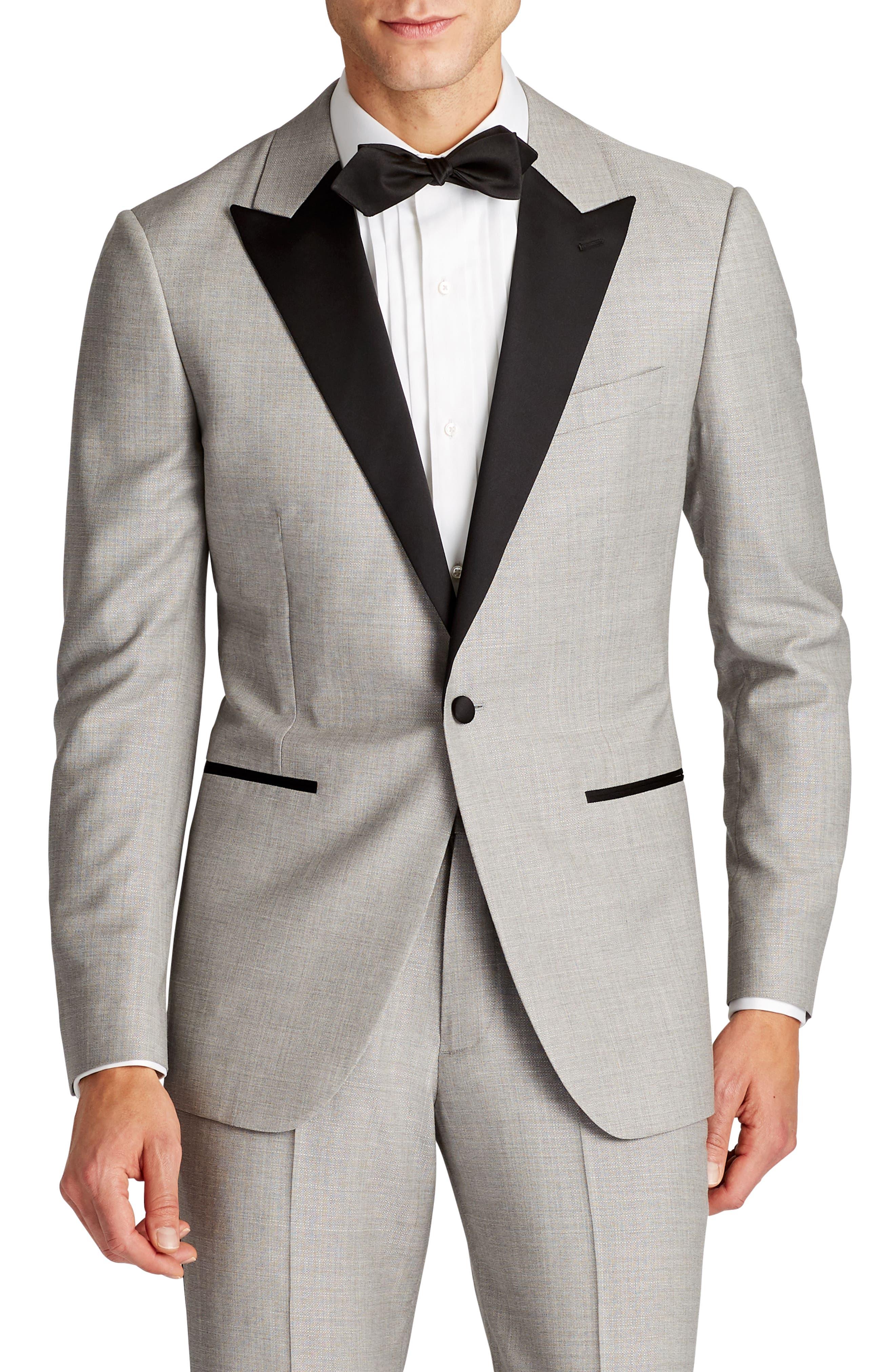 Capstone Slim Fit Wool Dinner Jacket,                         Main,                         color, Pearl Grey