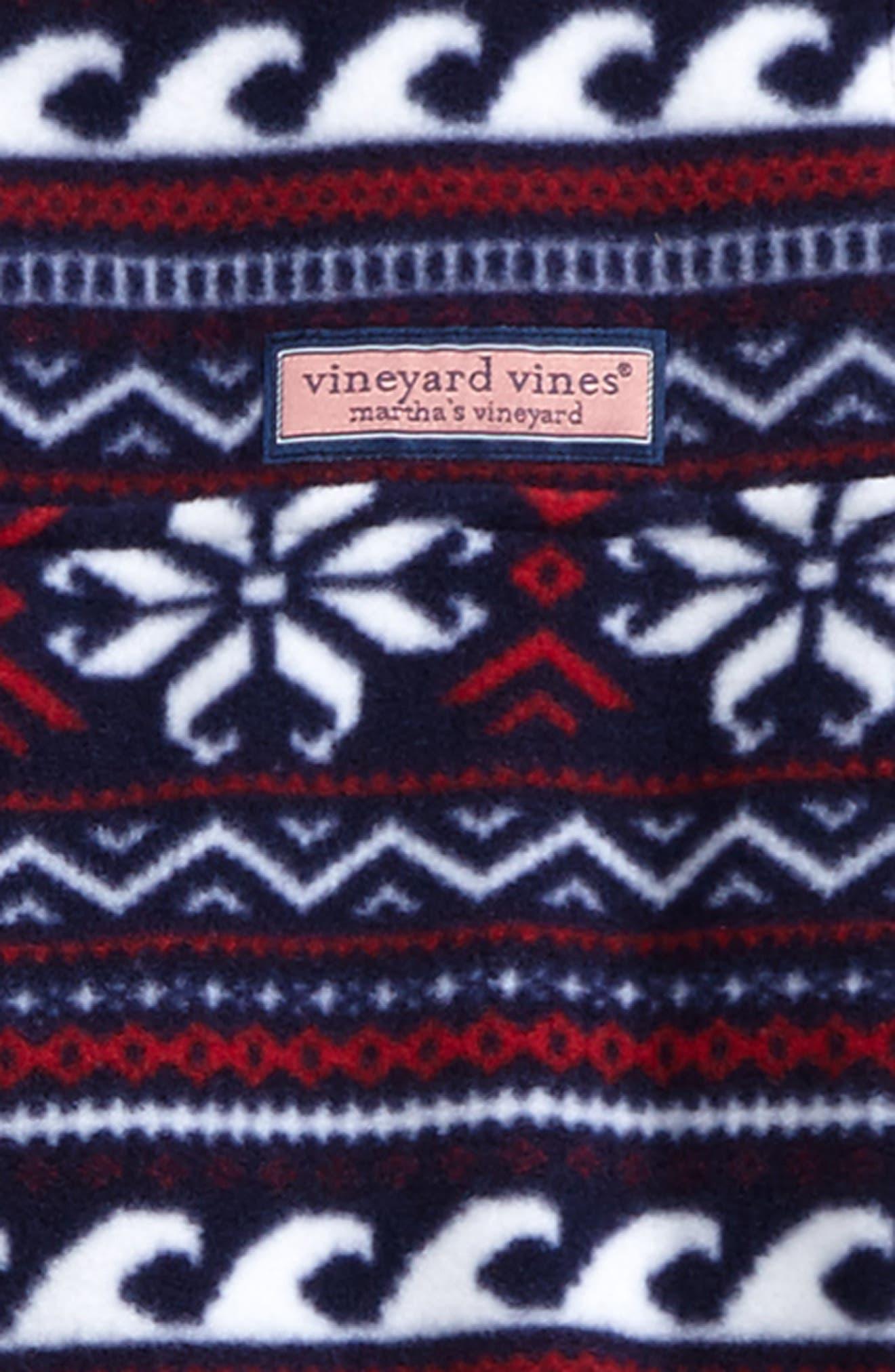Alternate Image 2  - vineyard vines Fair Isle Snap Fleece Pullover (Big Boys)