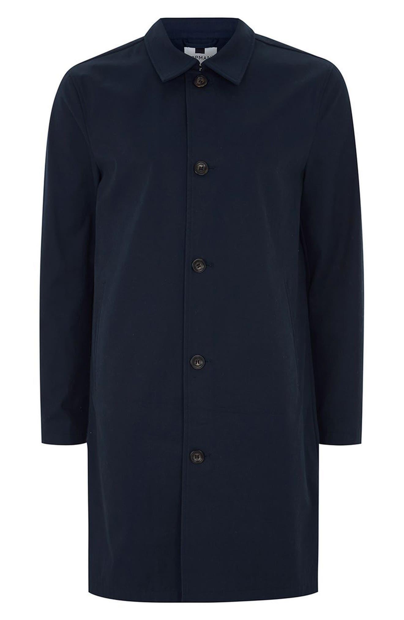 Single Breasted Topcoat,                             Alternate thumbnail 4, color,                             Dark Blue