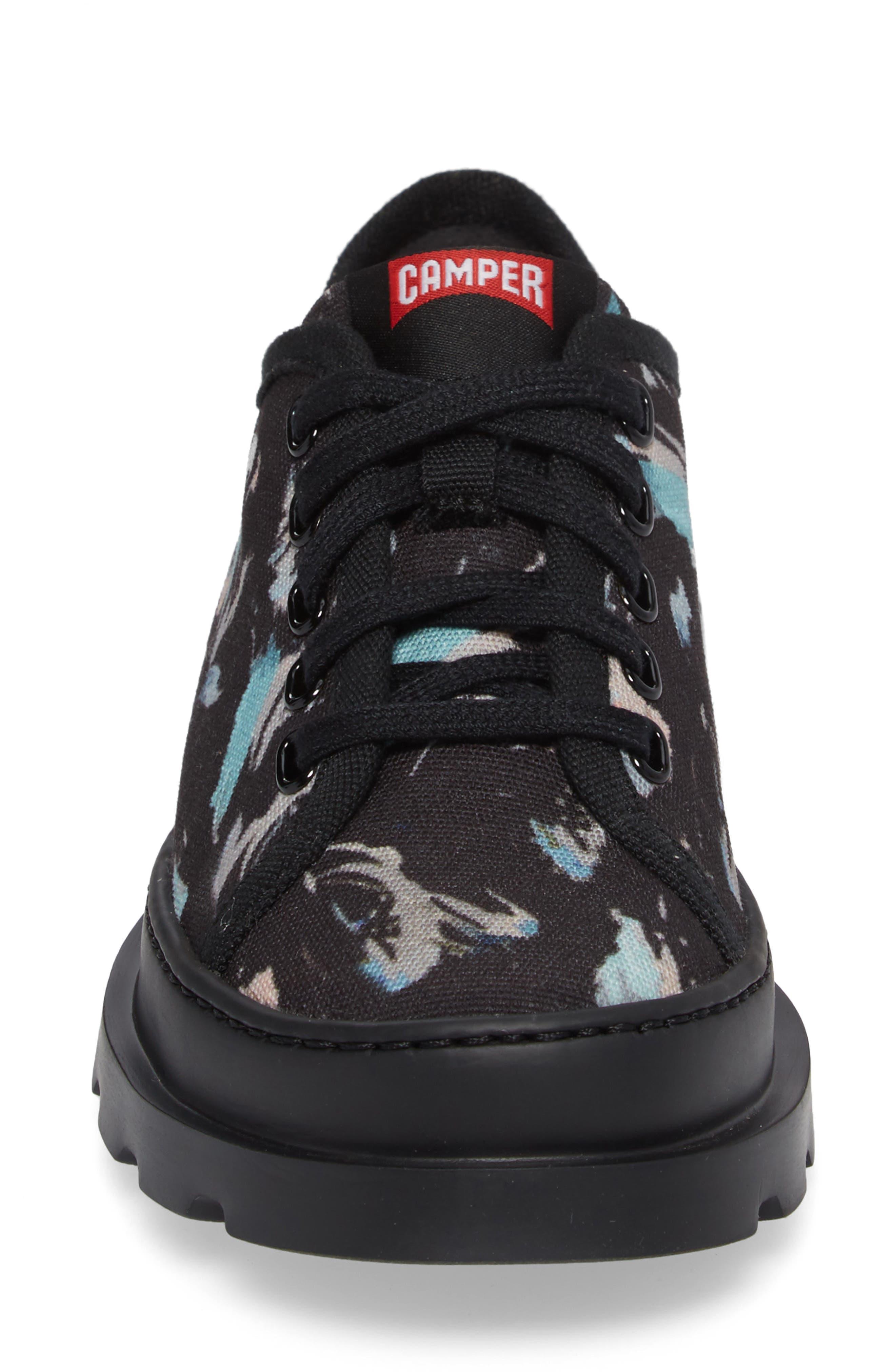 Brutus Lugged Platform Sneaker,                             Alternate thumbnail 4, color,                             Black Multi