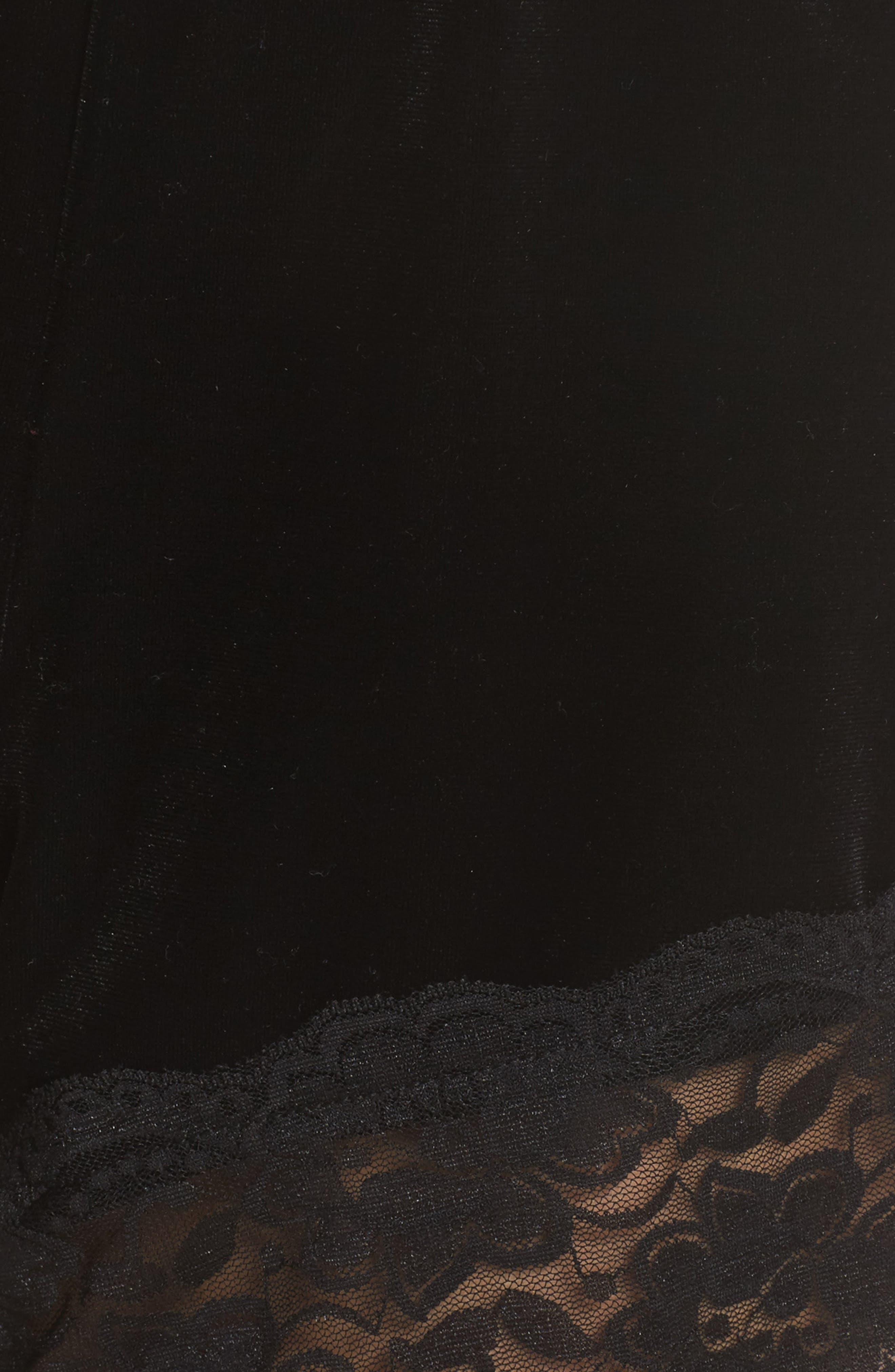 Alternate Image 6  - Topshop Lace Trim Velvet Lounge Shorts