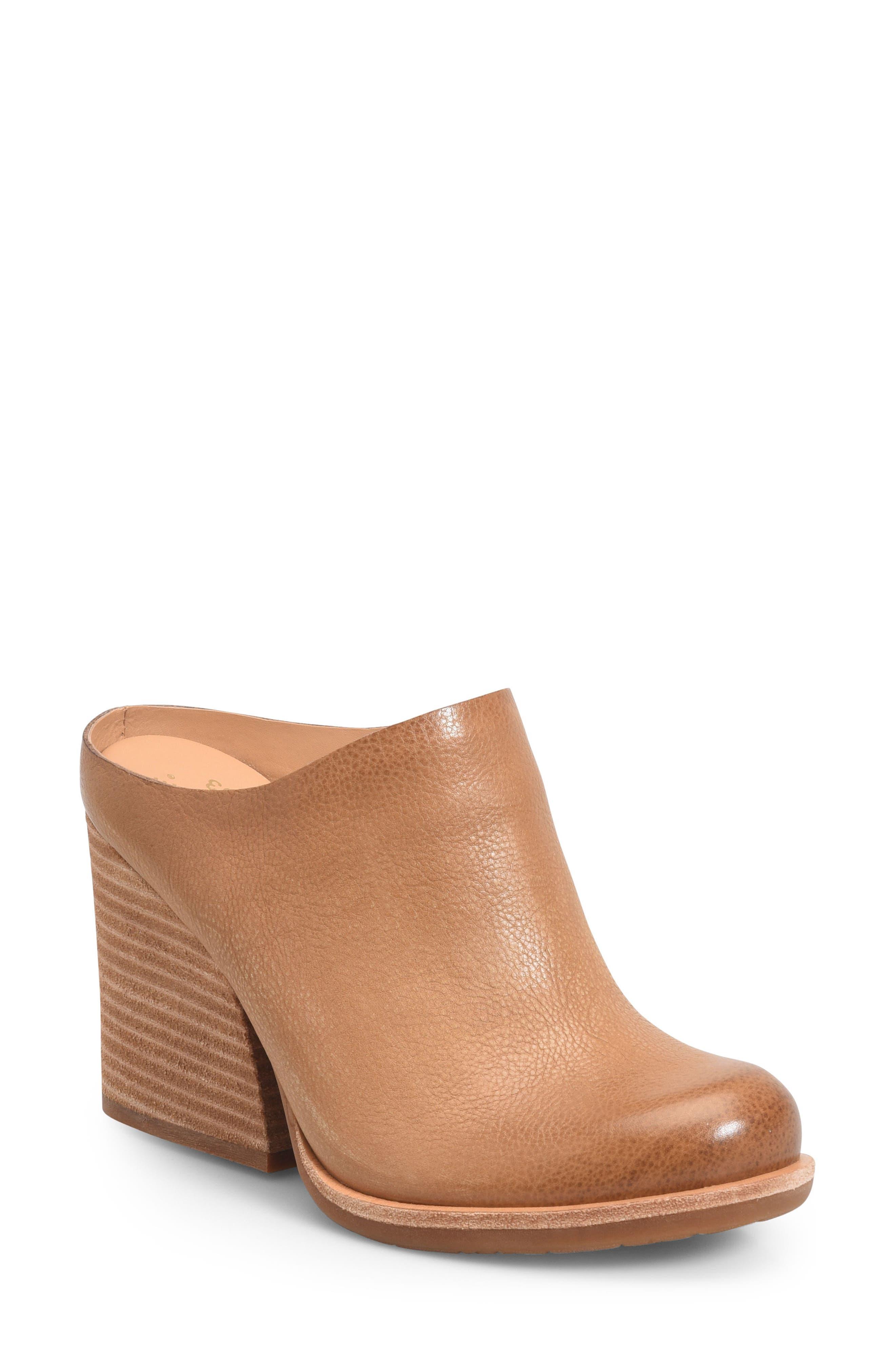 Kork-Ease Challise Clog,                         Main,                         color, Tan Leather