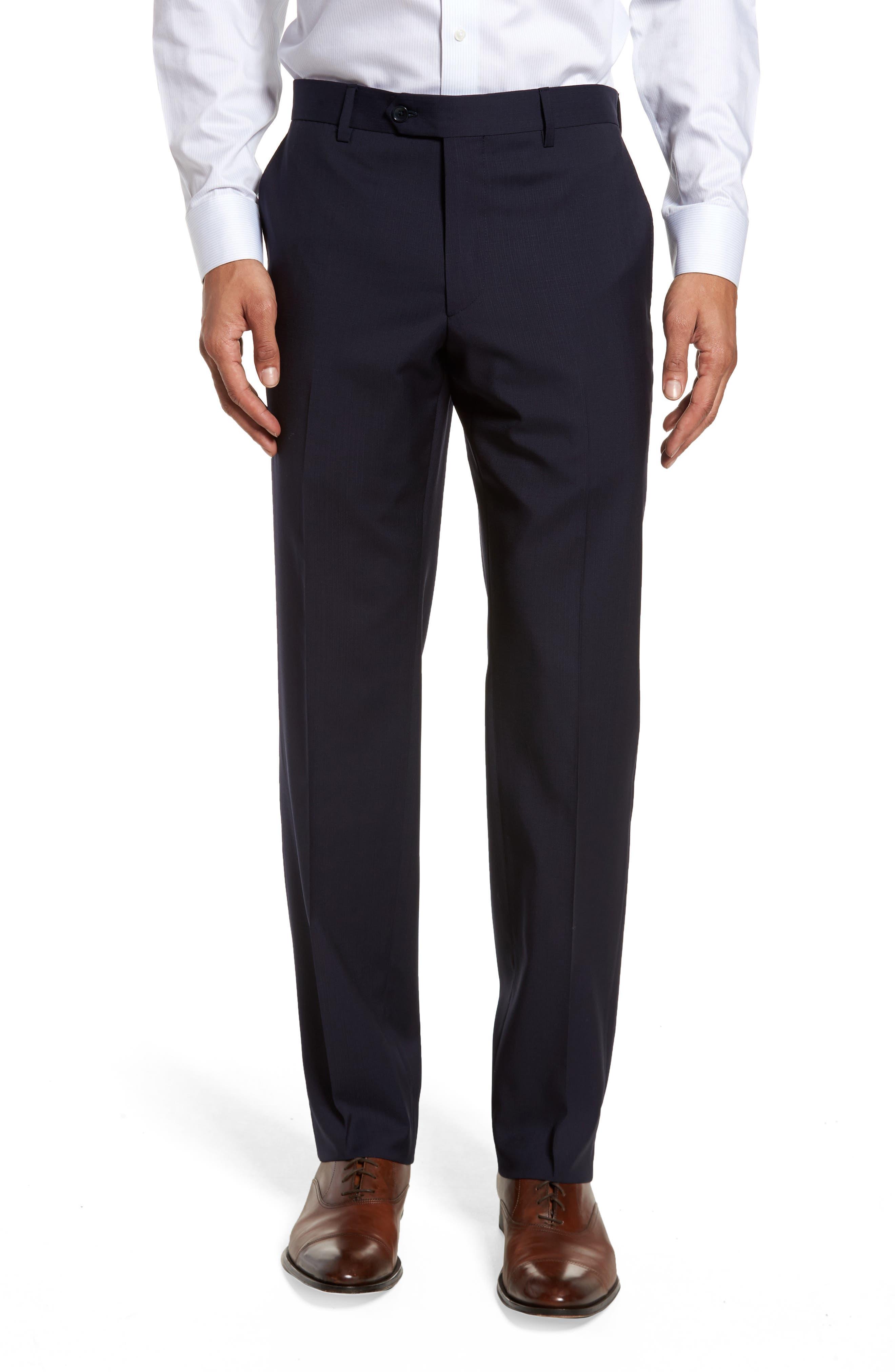 Classic Fit Check Suit,                             Alternate thumbnail 6, color,                             Navy