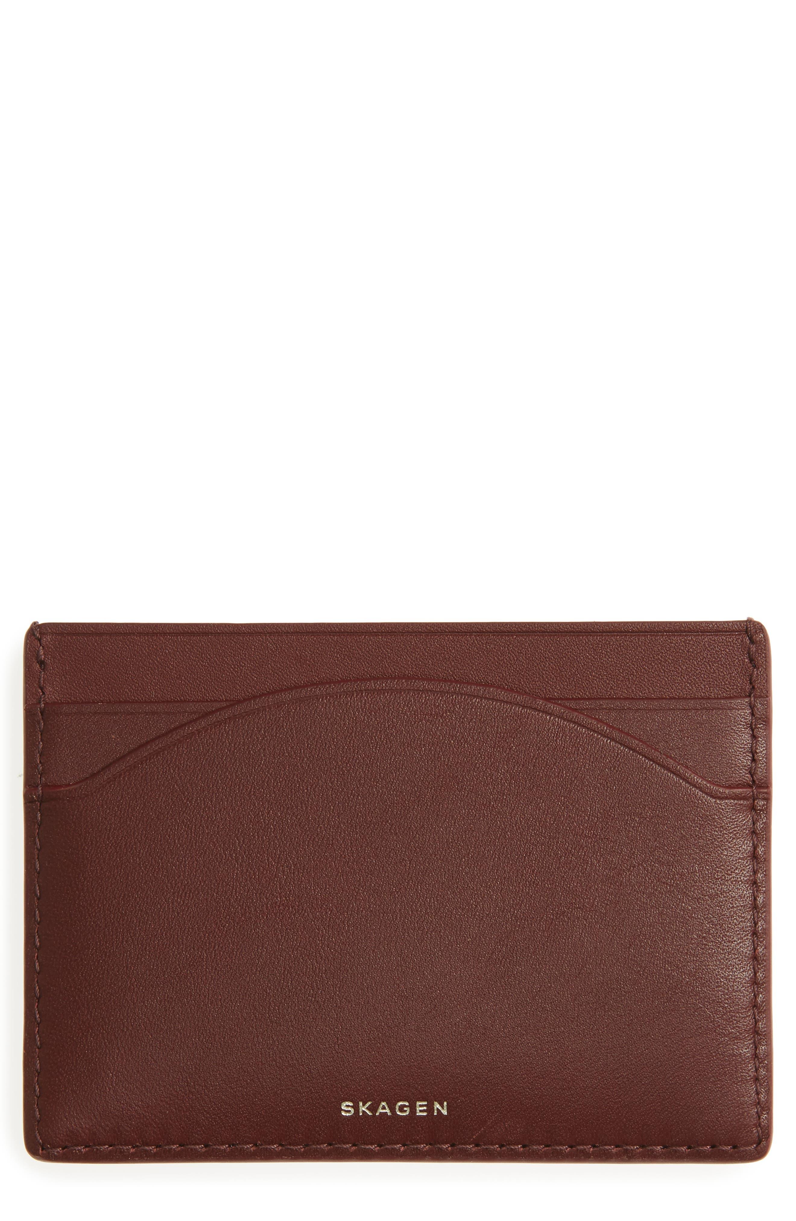 Alternate Image 1 Selected - Skagen Leather Card Case