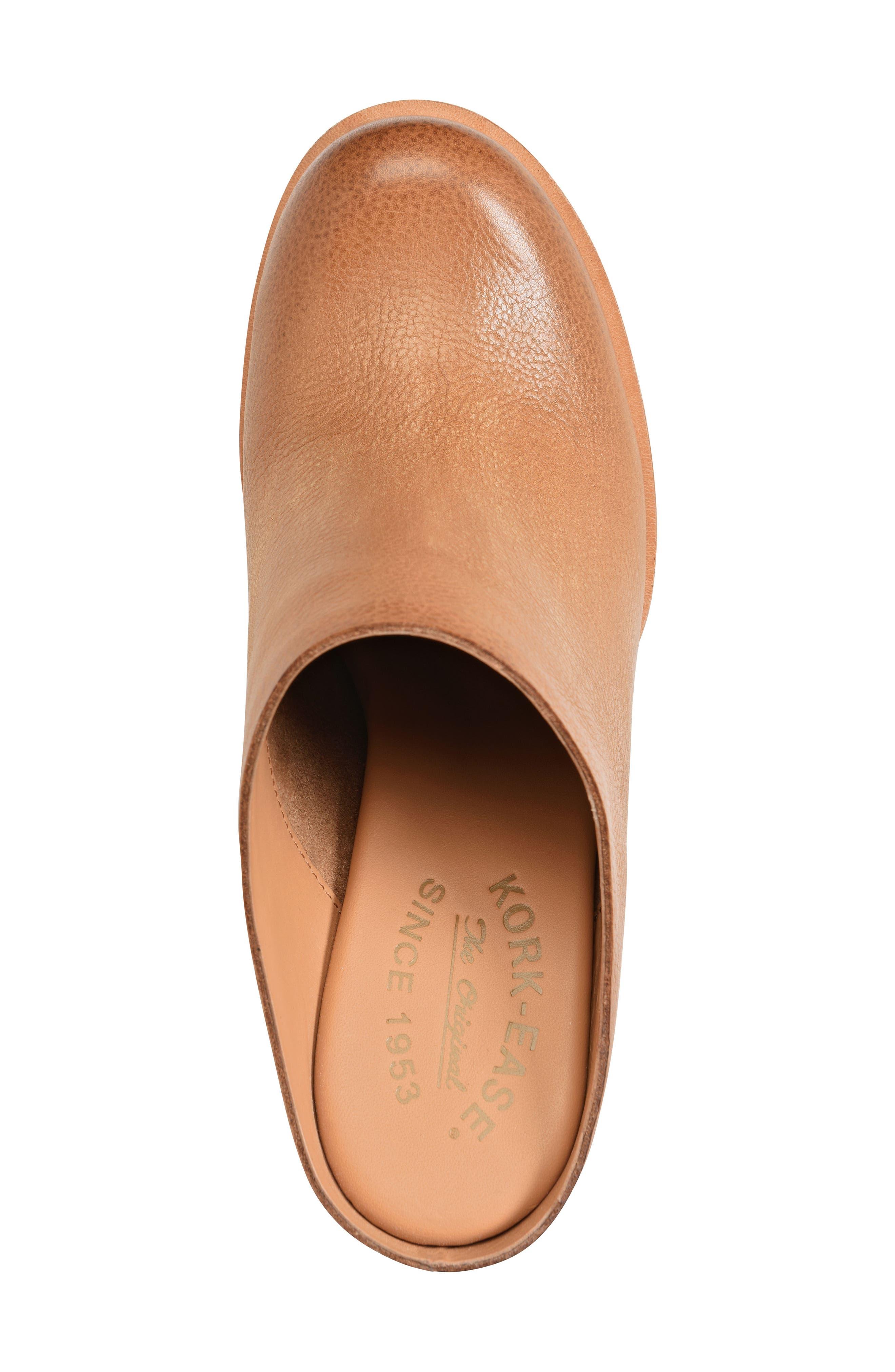 Kork-Ease Challise Clog,                             Alternate thumbnail 5, color,                             Tan Leather