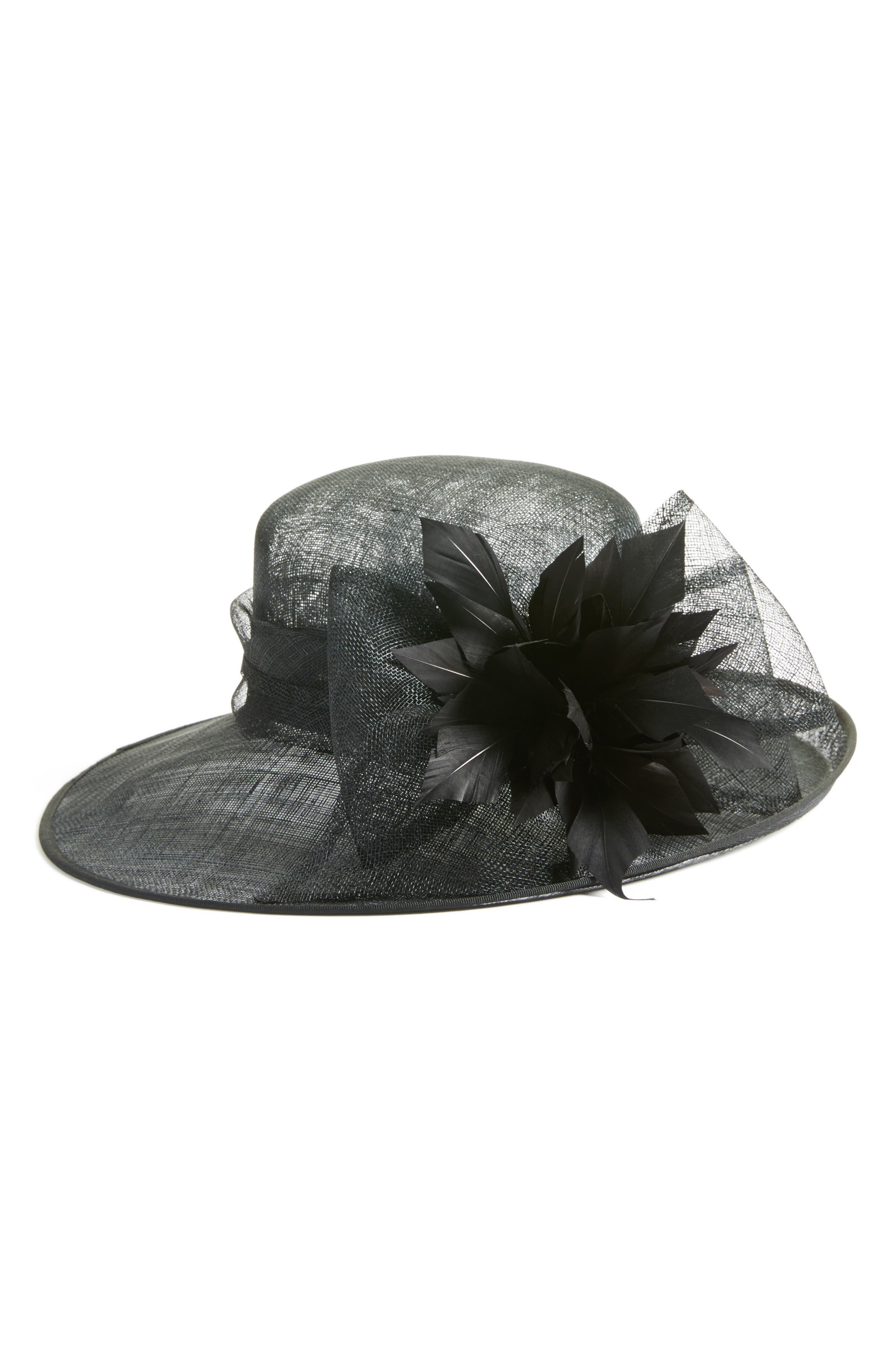 Nordstrom Feather & Bow Hat