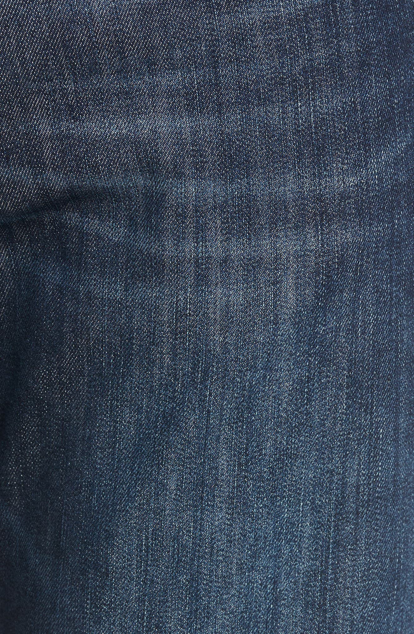 Myles Straight Leg Jeans,                             Alternate thumbnail 5, color,                             Deep Brushed Stanford
