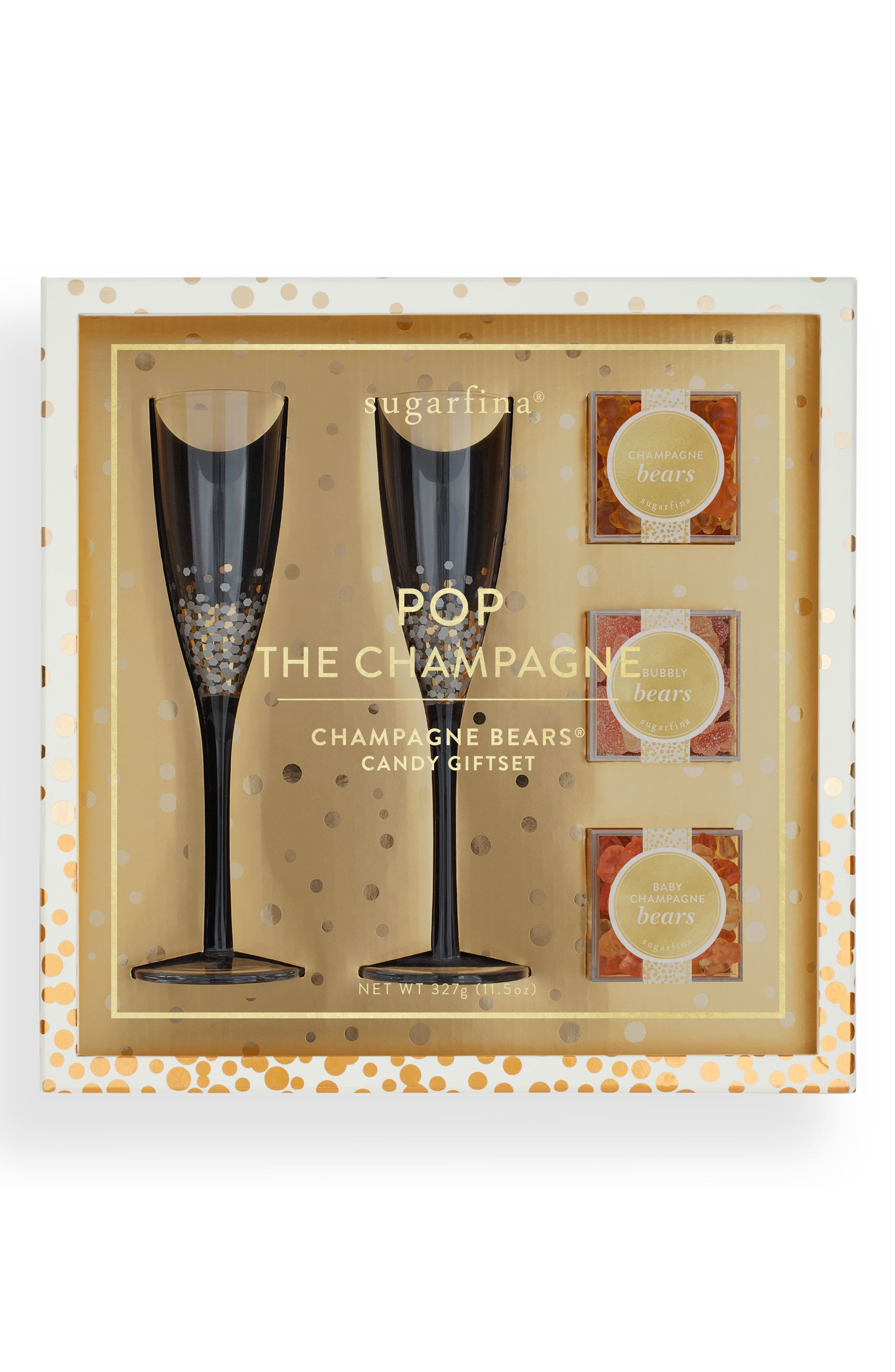 Pop The Champagne Candy Gift Set,                             Alternate thumbnail 2, color,                             Metallic Gold
