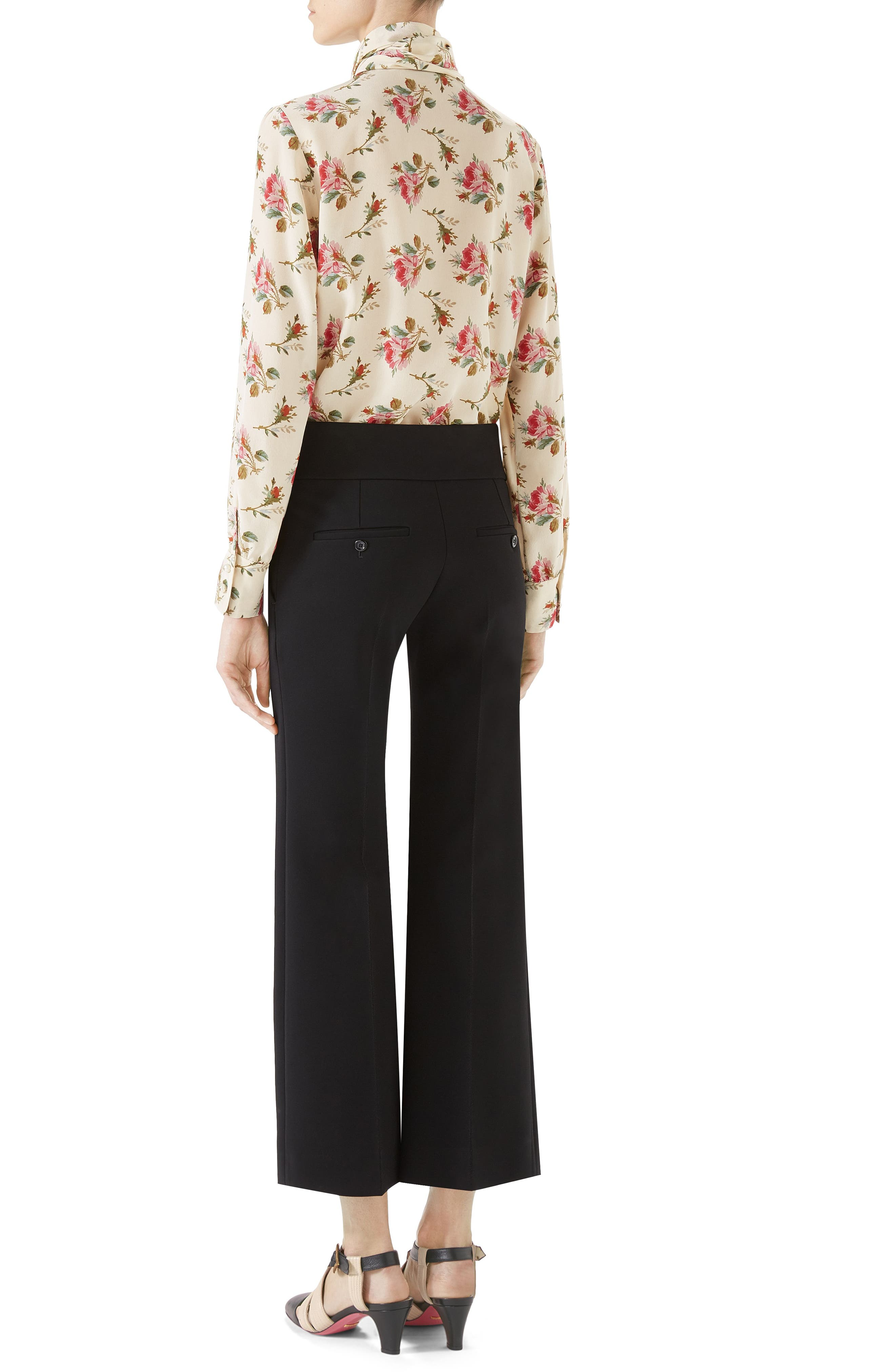 Alternate Image 4  - Gucci Marmont Stretch Jersey Crop Pants