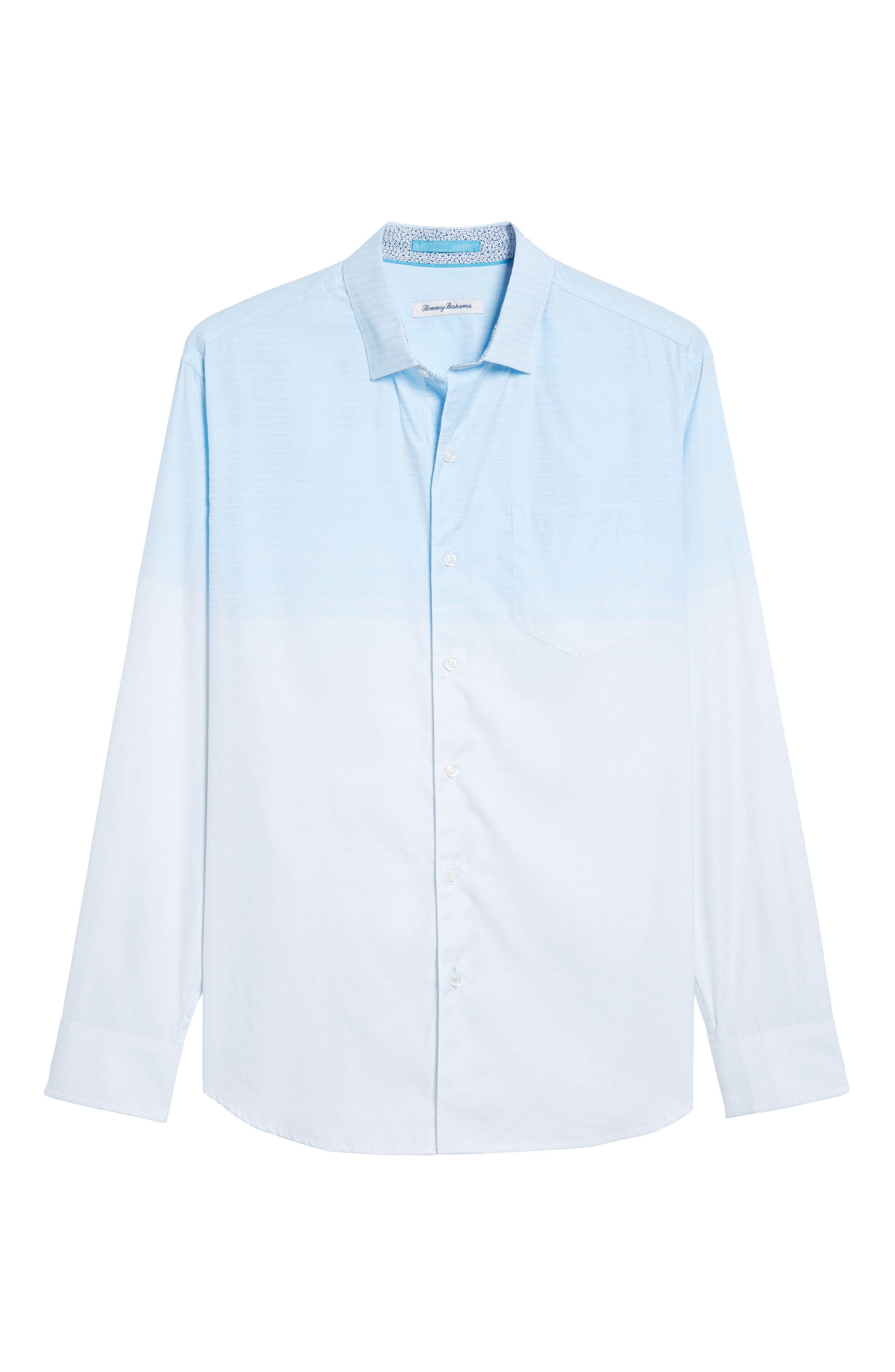 Palm Bay Ombré Sport Shirt,                             Alternate thumbnail 6, color,                             Opal