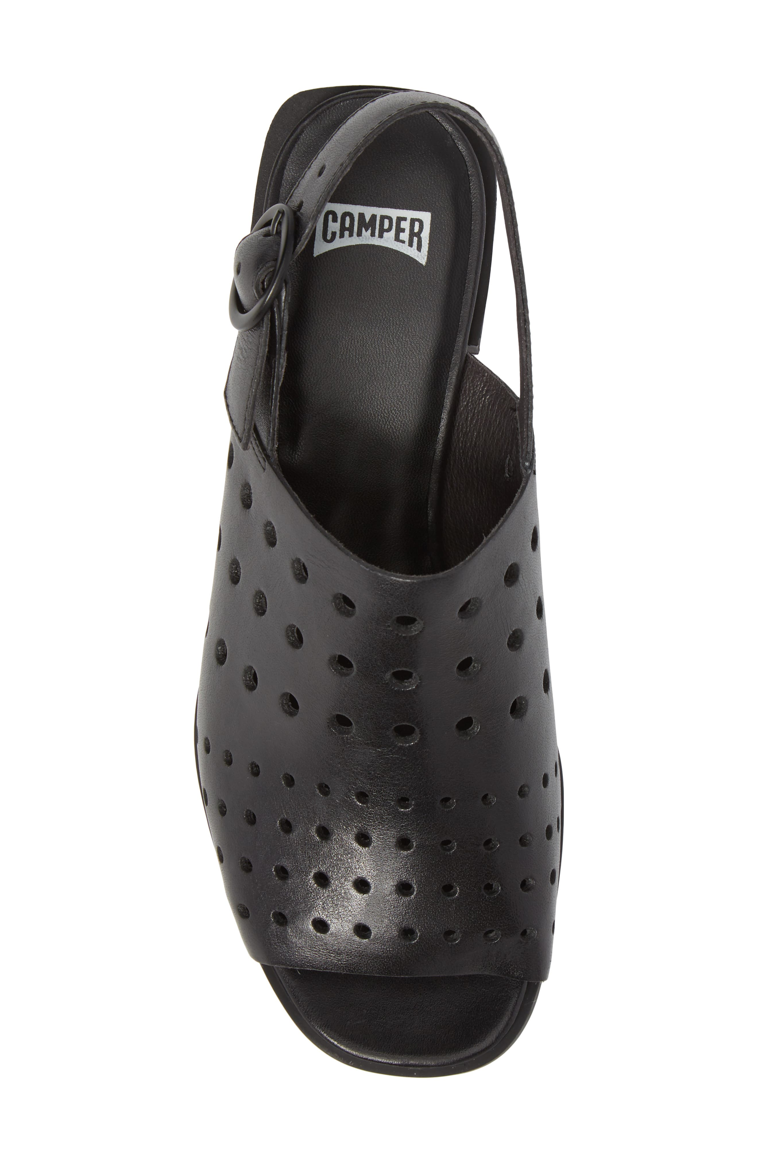 Twins Sandal,                             Alternate thumbnail 5, color,                             Black Leather