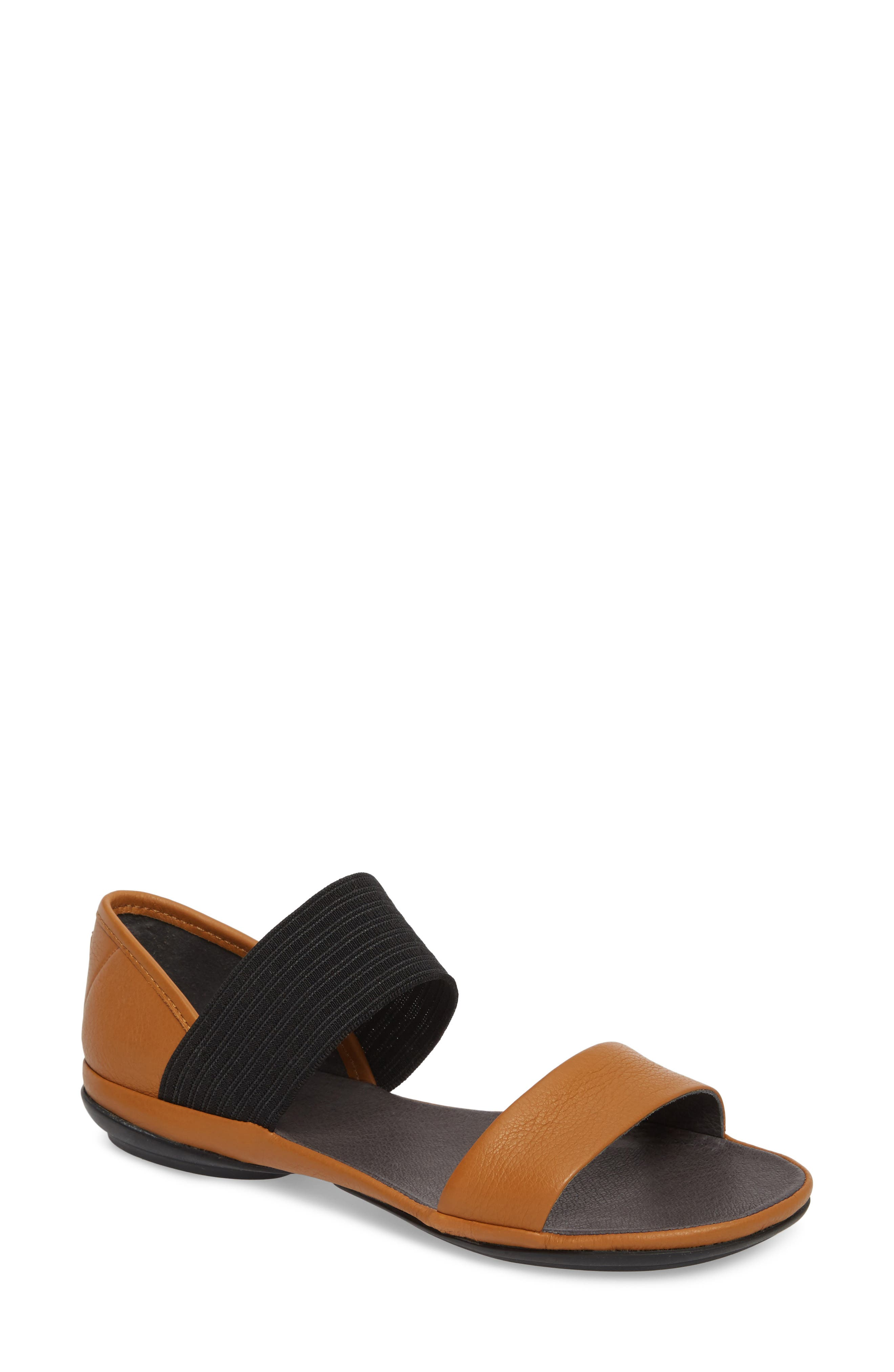 Right Nina Sandal,                         Main,                         color, Rust/ Copper Leather