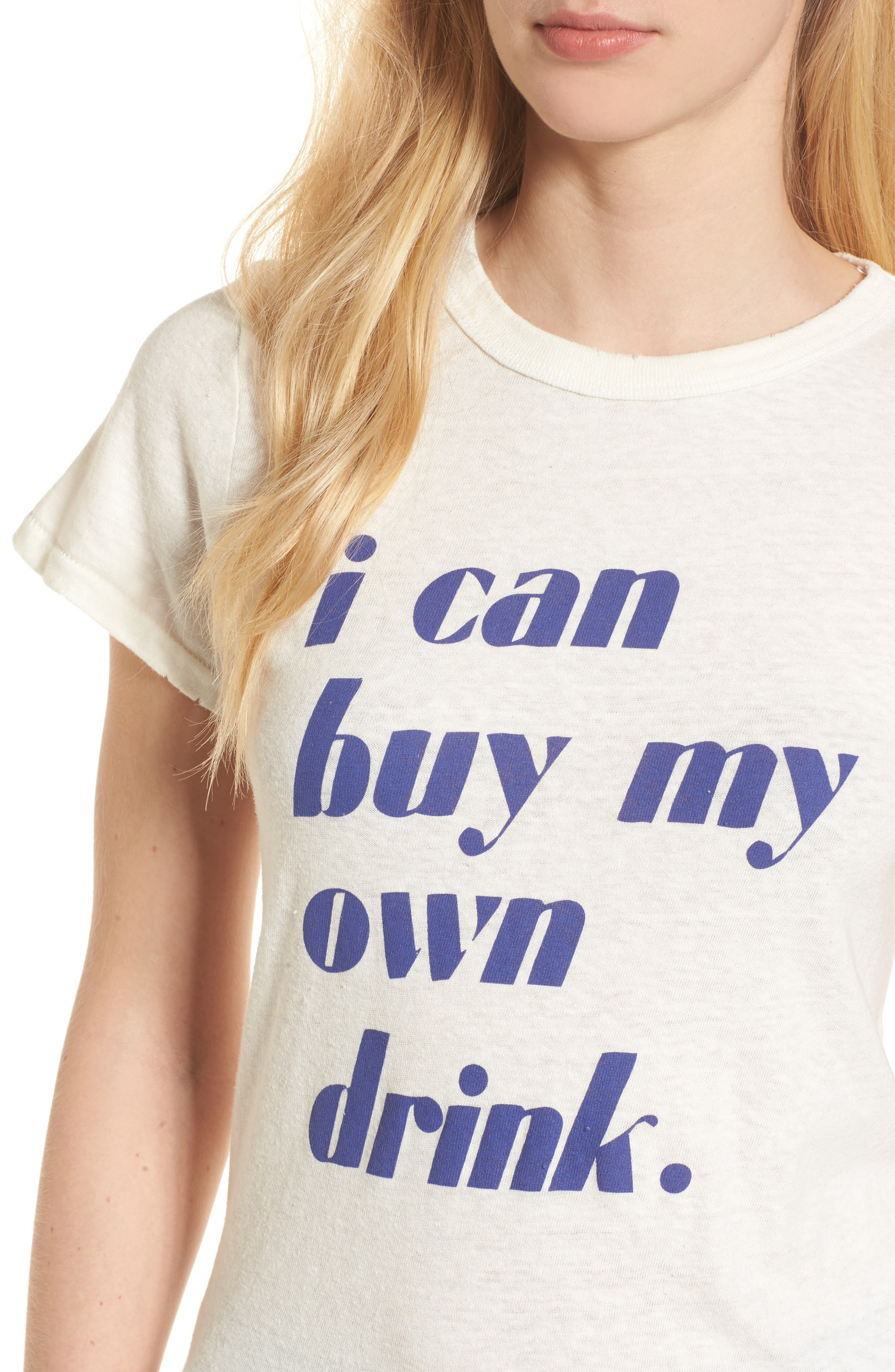I Can Buy My Own Drink Tee,                             Alternate thumbnail 4, color,                             Ivory