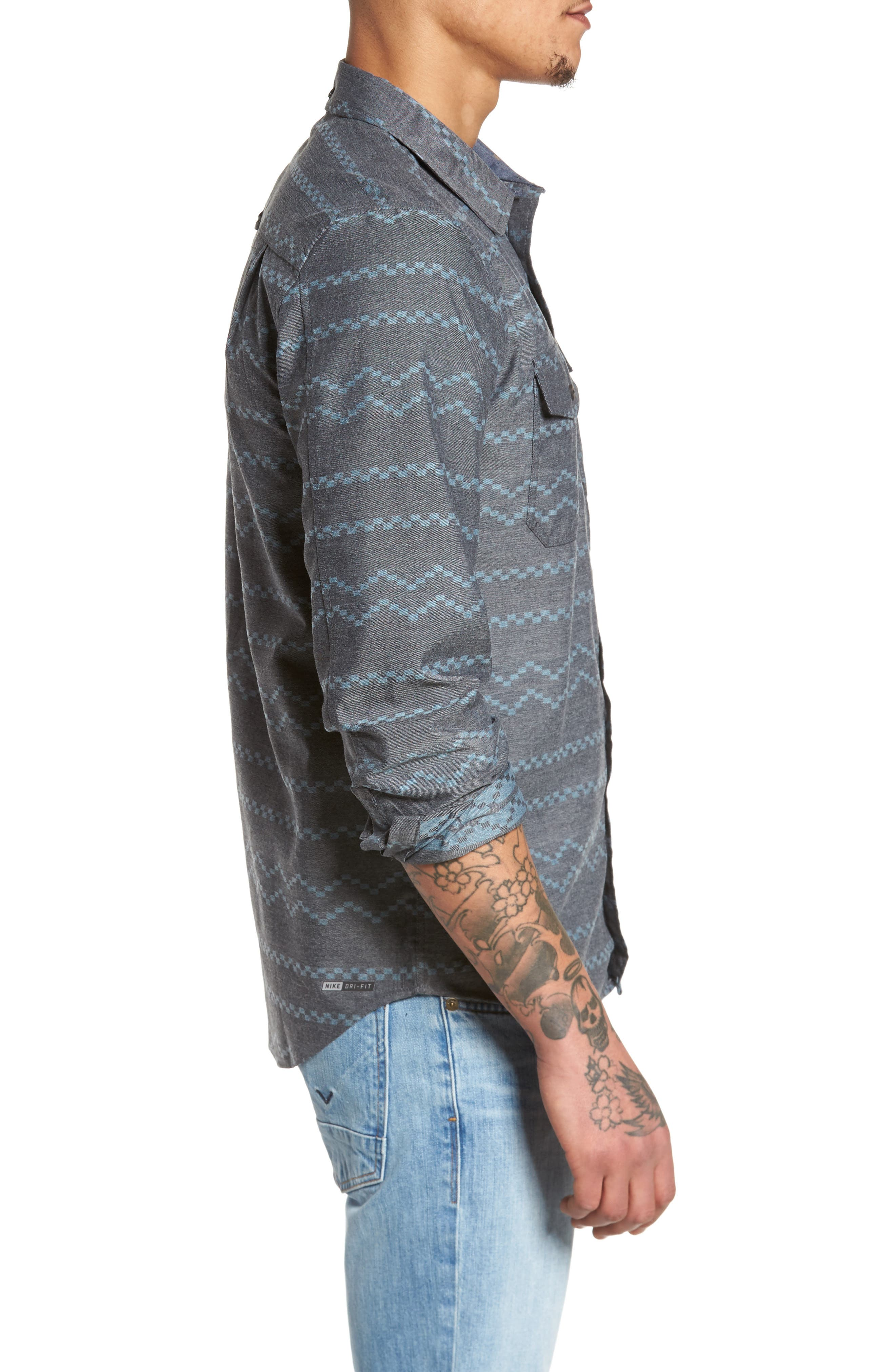Pismo Dry Flannel Shirt,                             Alternate thumbnail 3, color,                             Black