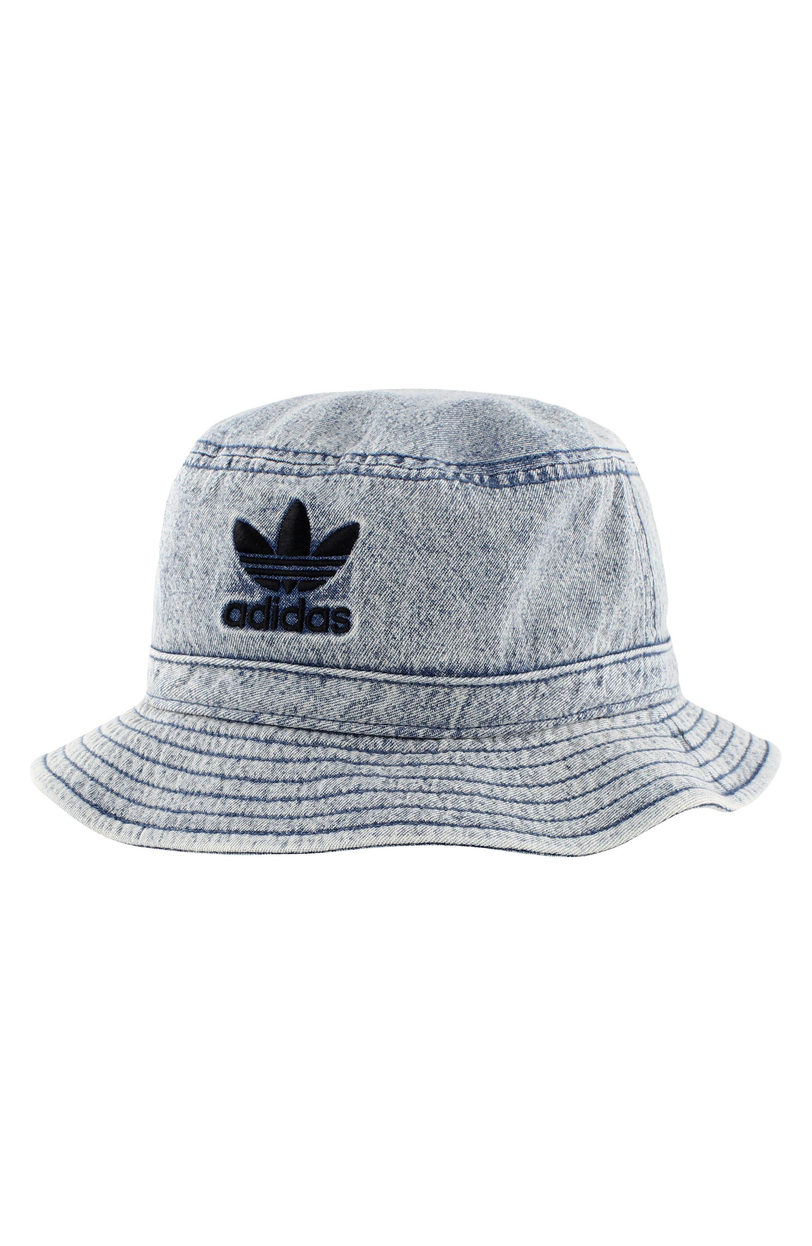 Denim Bucket Hat,                             Main thumbnail 1, color,                             Navy/ Black