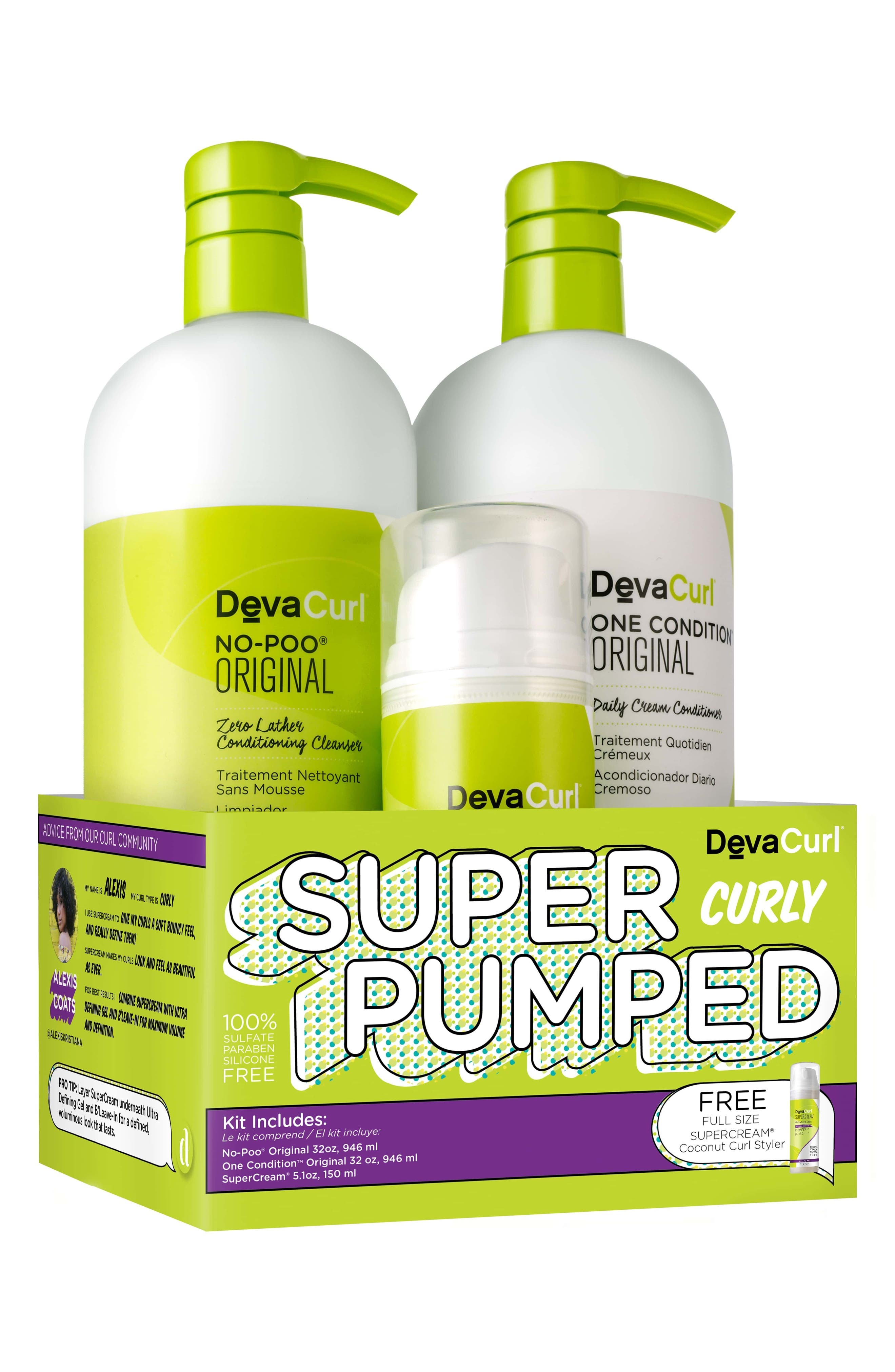 Super Pumped Curly Hair Care Kit,                         Main,                         color, No Color