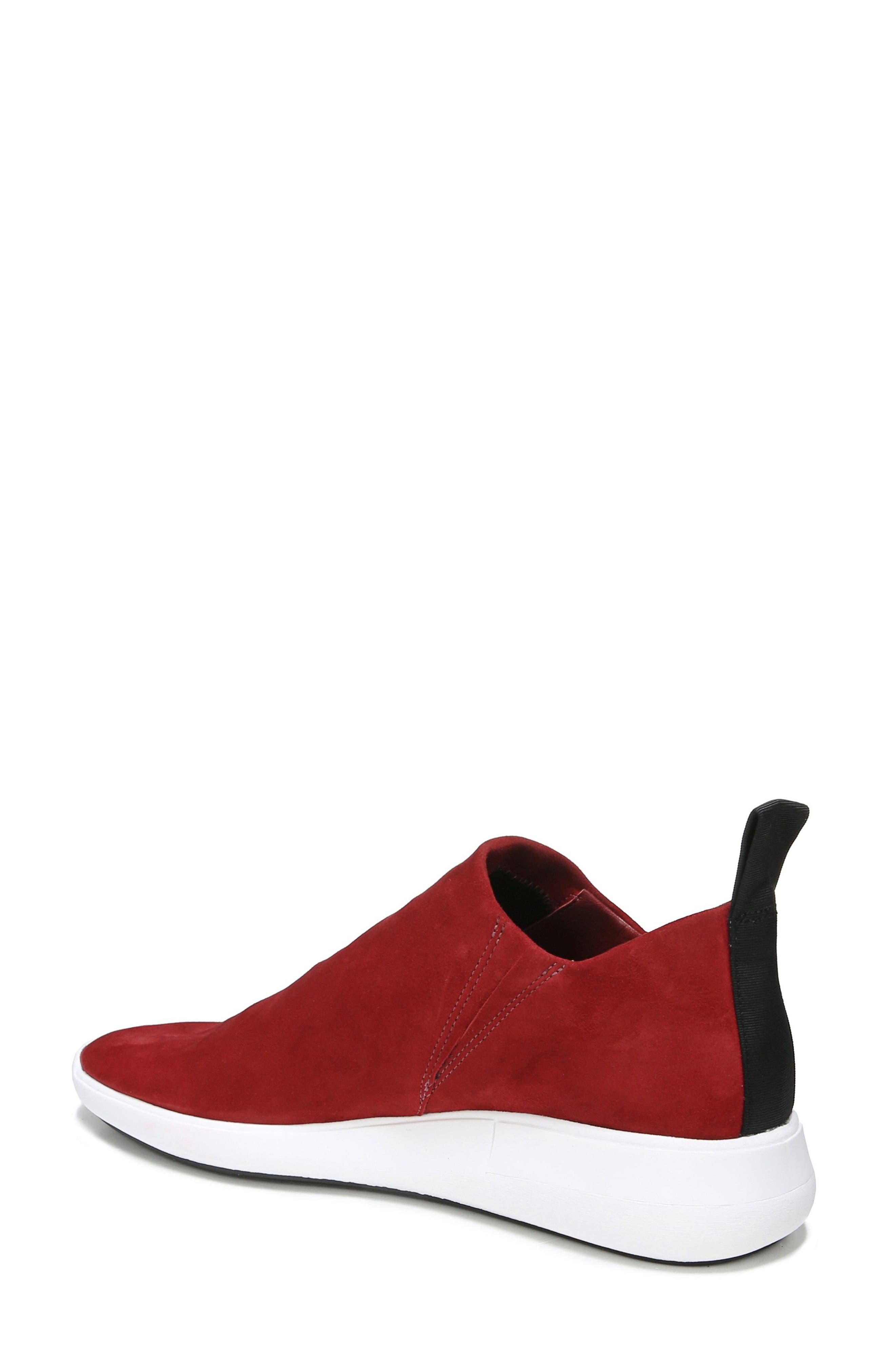 Marlow Slip-On Sneaker,                             Alternate thumbnail 2, color,                             Ruby Suede