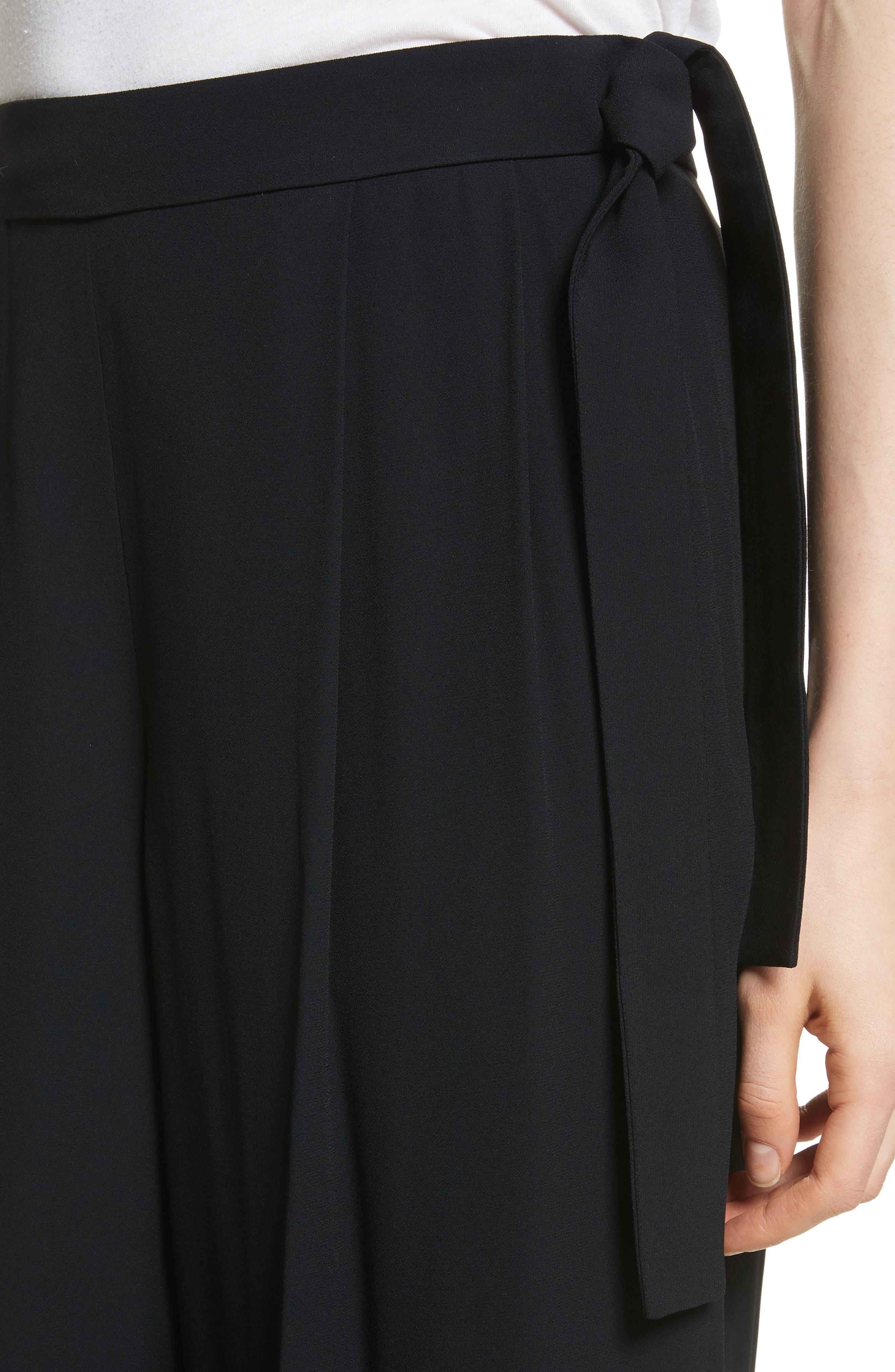 Belted Culottes,                             Alternate thumbnail 4, color,                             Black