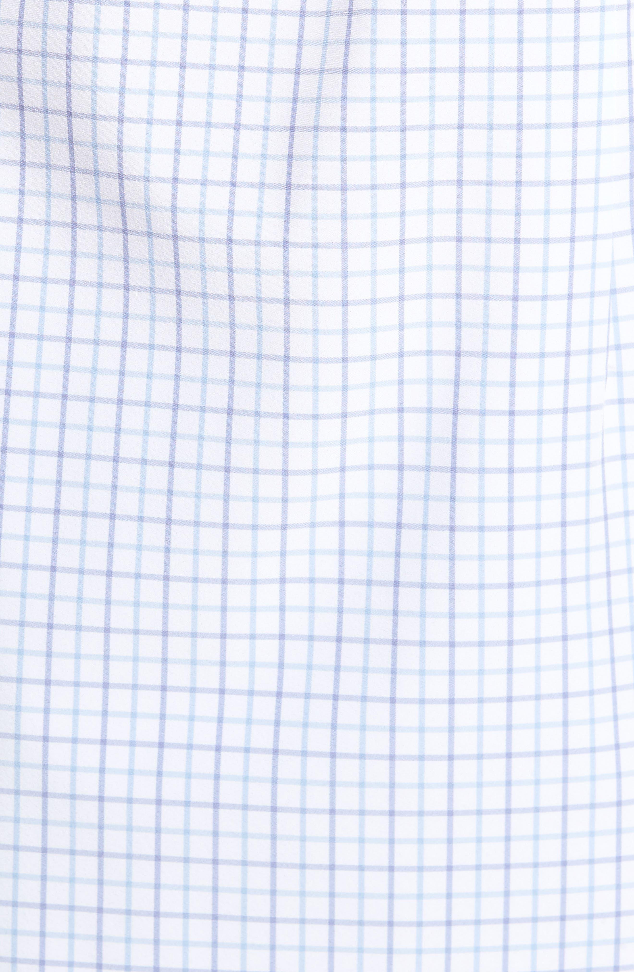 Hallandale Dusty Lavender Check Sport Shirt,                             Alternate thumbnail 5, color,                             White