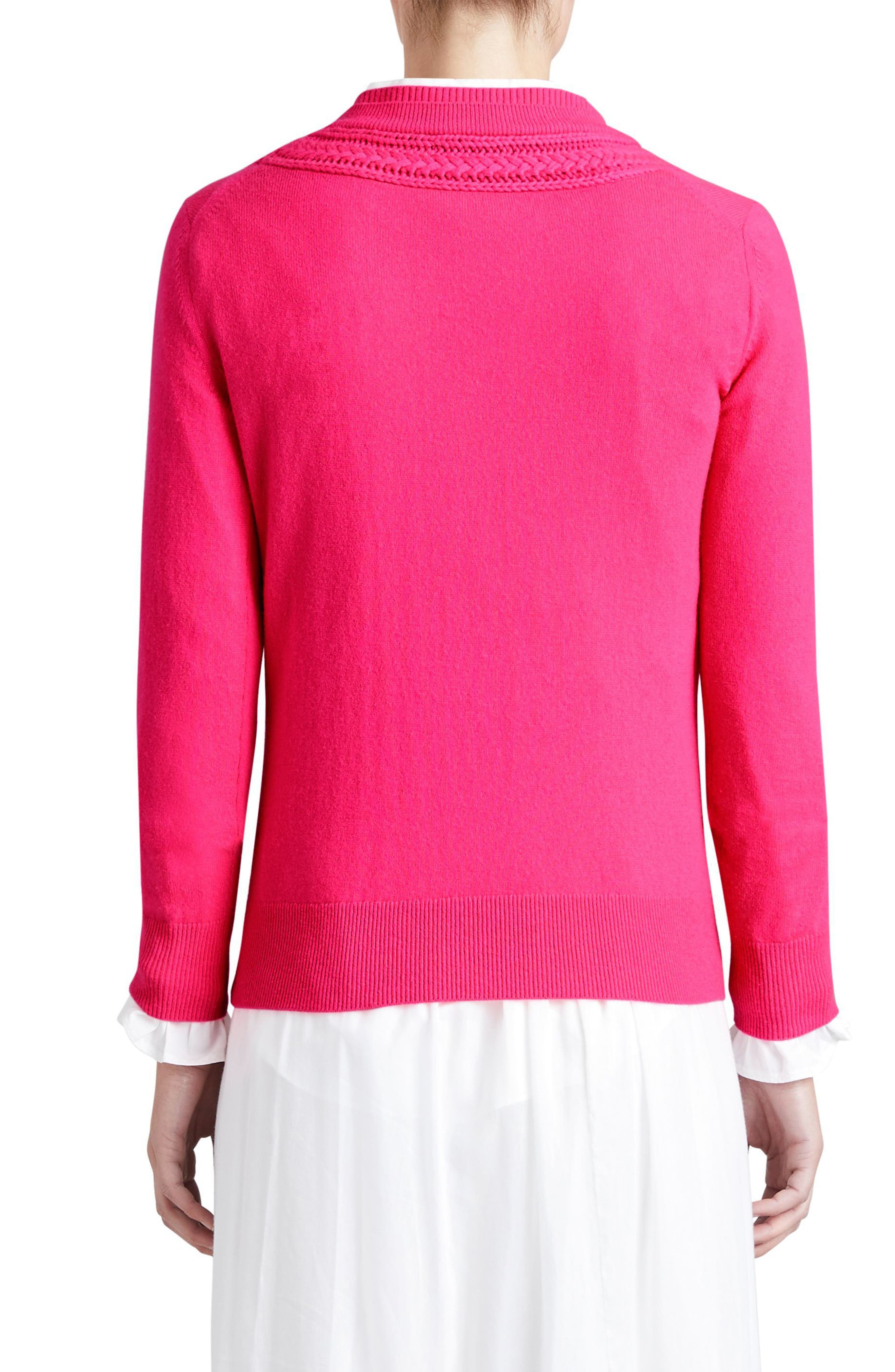 Guadaira Cashmere Sweater,                             Alternate thumbnail 2, color,                             Bright Rose Pink