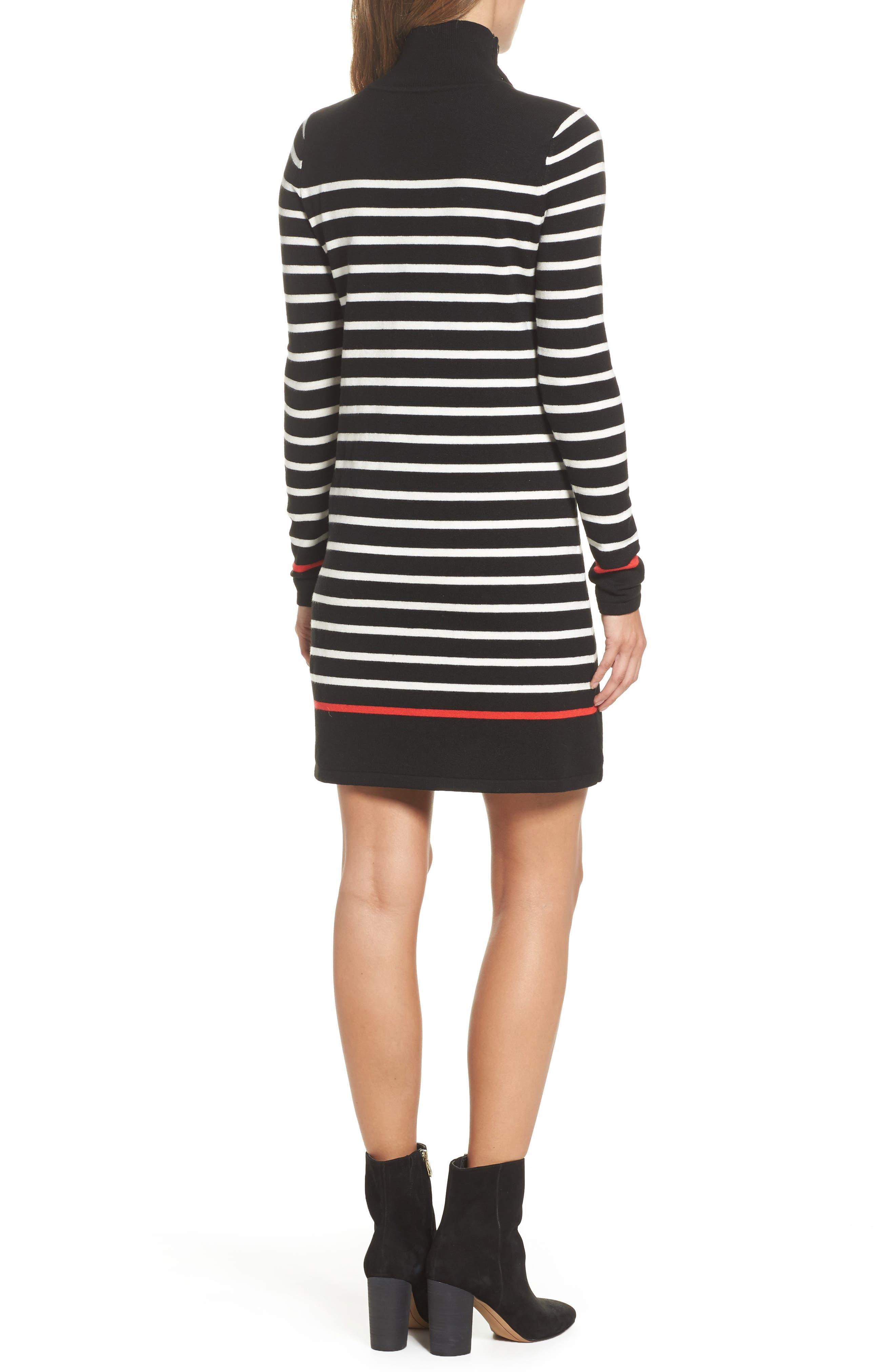 Alternate Image 2  - Eliza J Mockneck Stripe Shift Dress