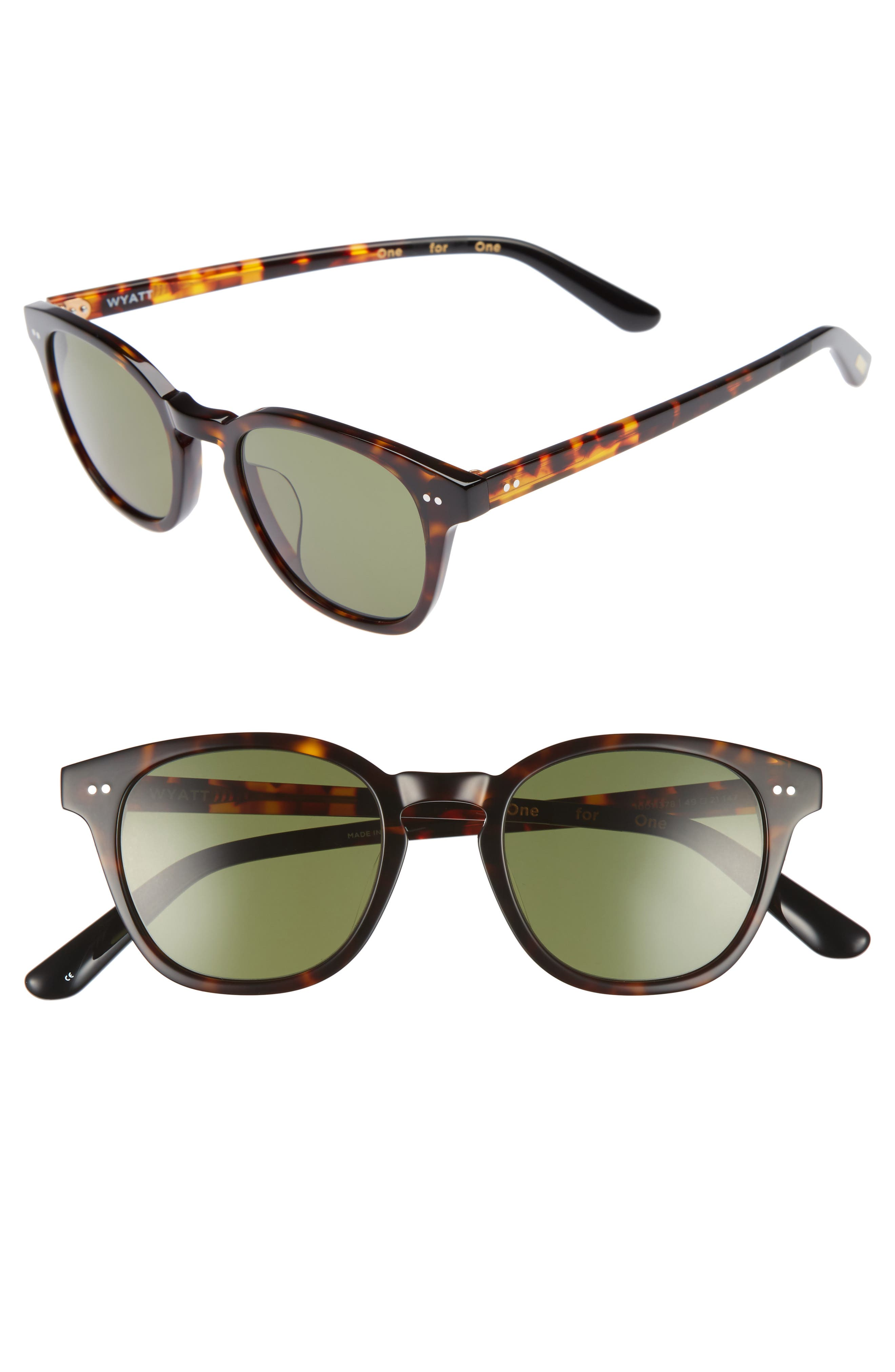 TOMS Wyatt 49mm Sunglasses