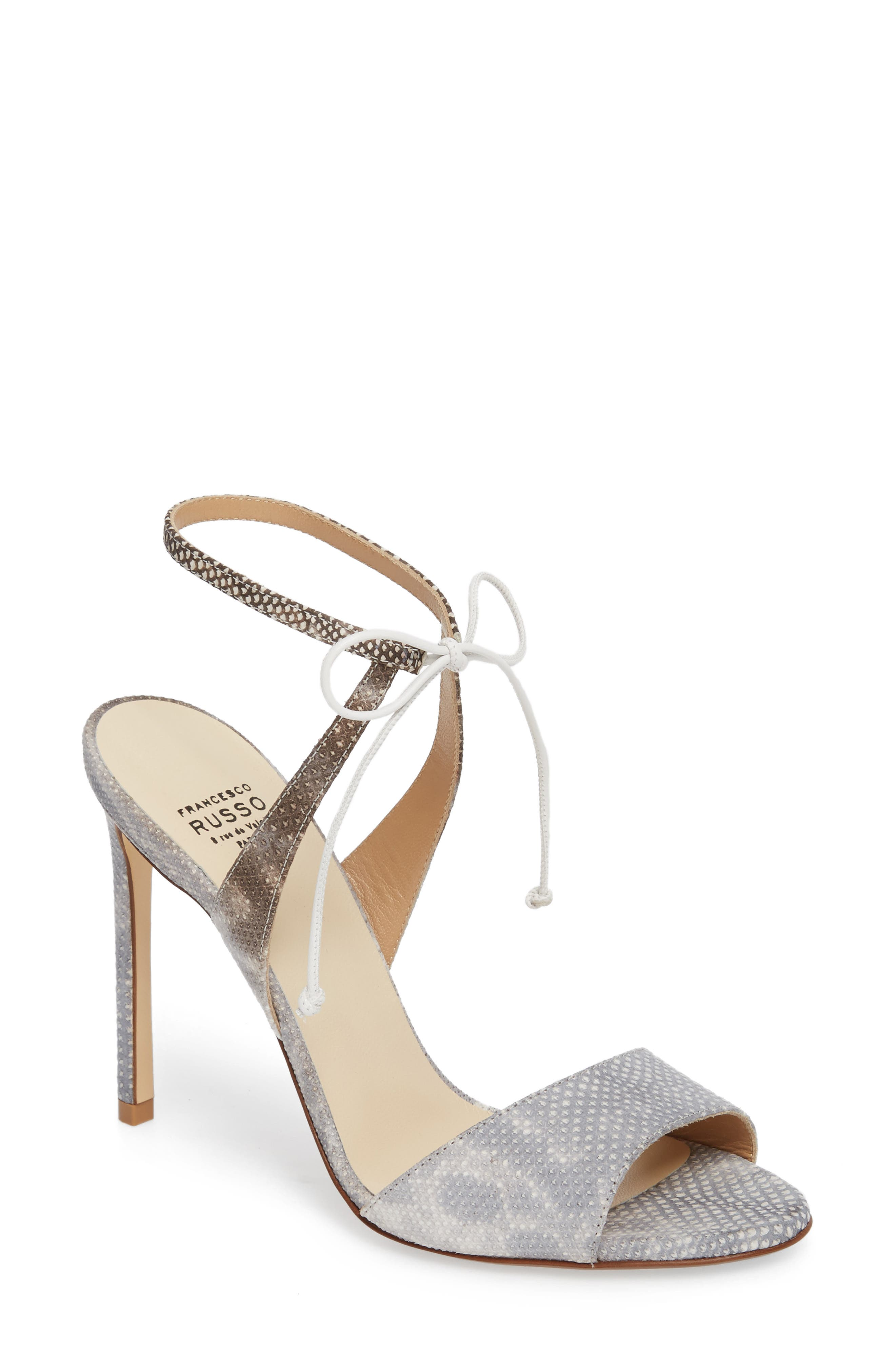 Ankle Strap Sandal,                             Main thumbnail 1, color,                             White