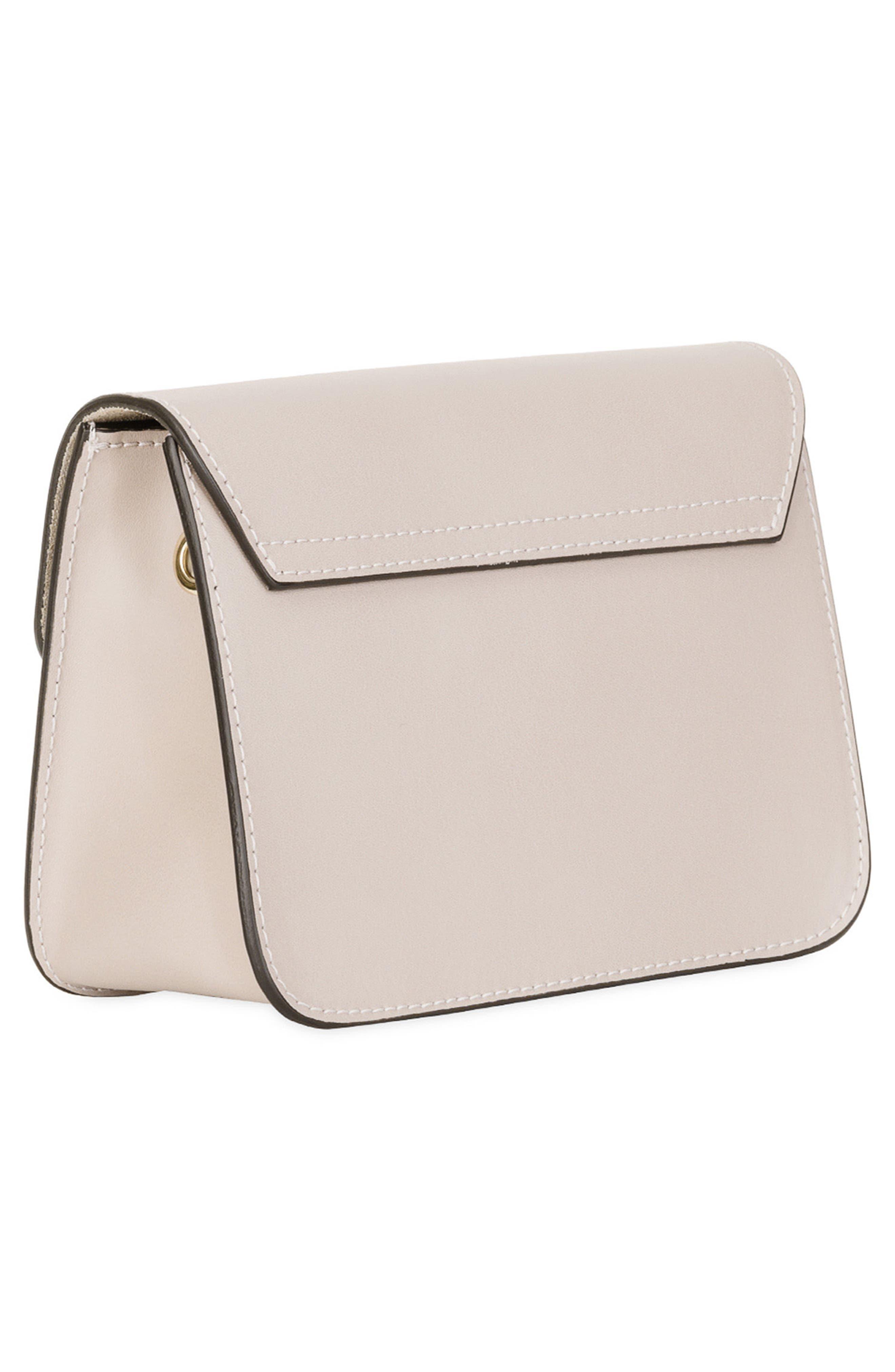 Mini Metropolis Leather Crossbody Bag,                             Alternate thumbnail 2, color,                             Vaniglia