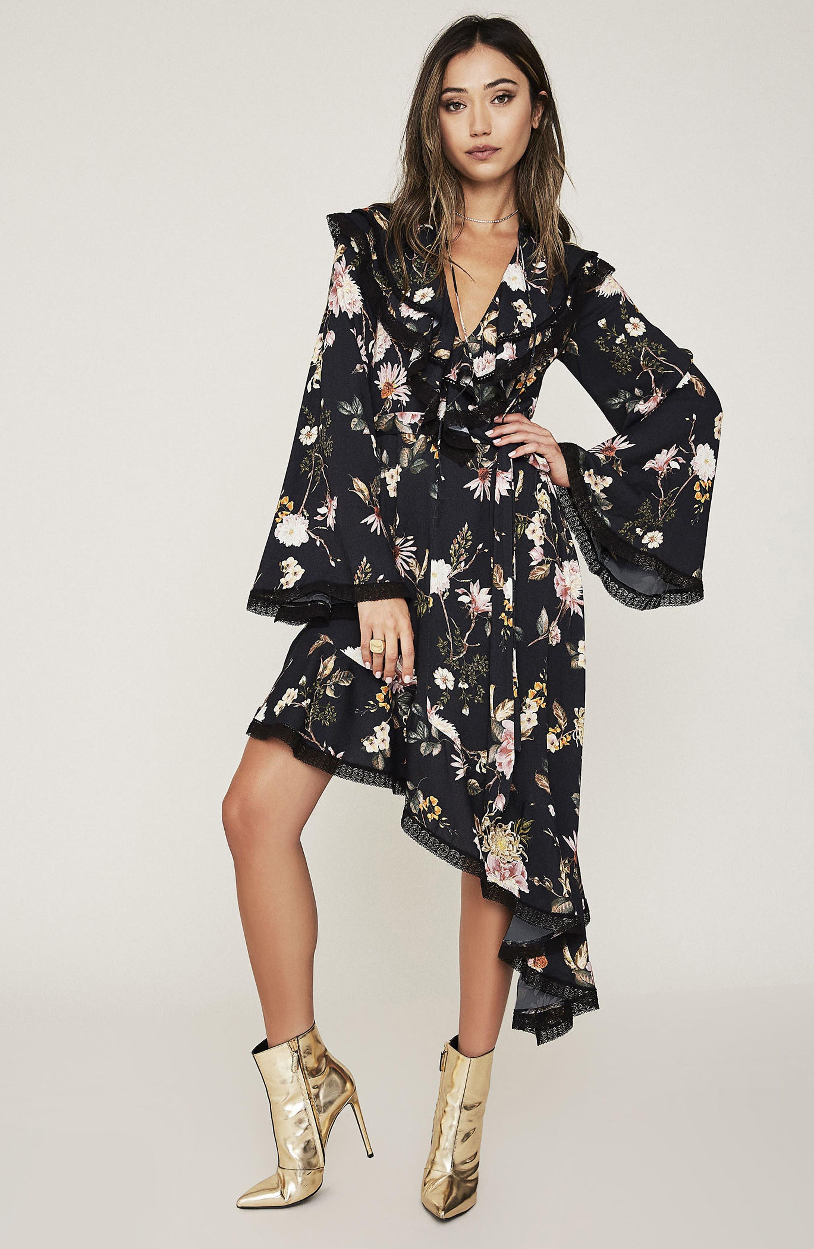 AFRM Ray Asymmetrical Midi Dress