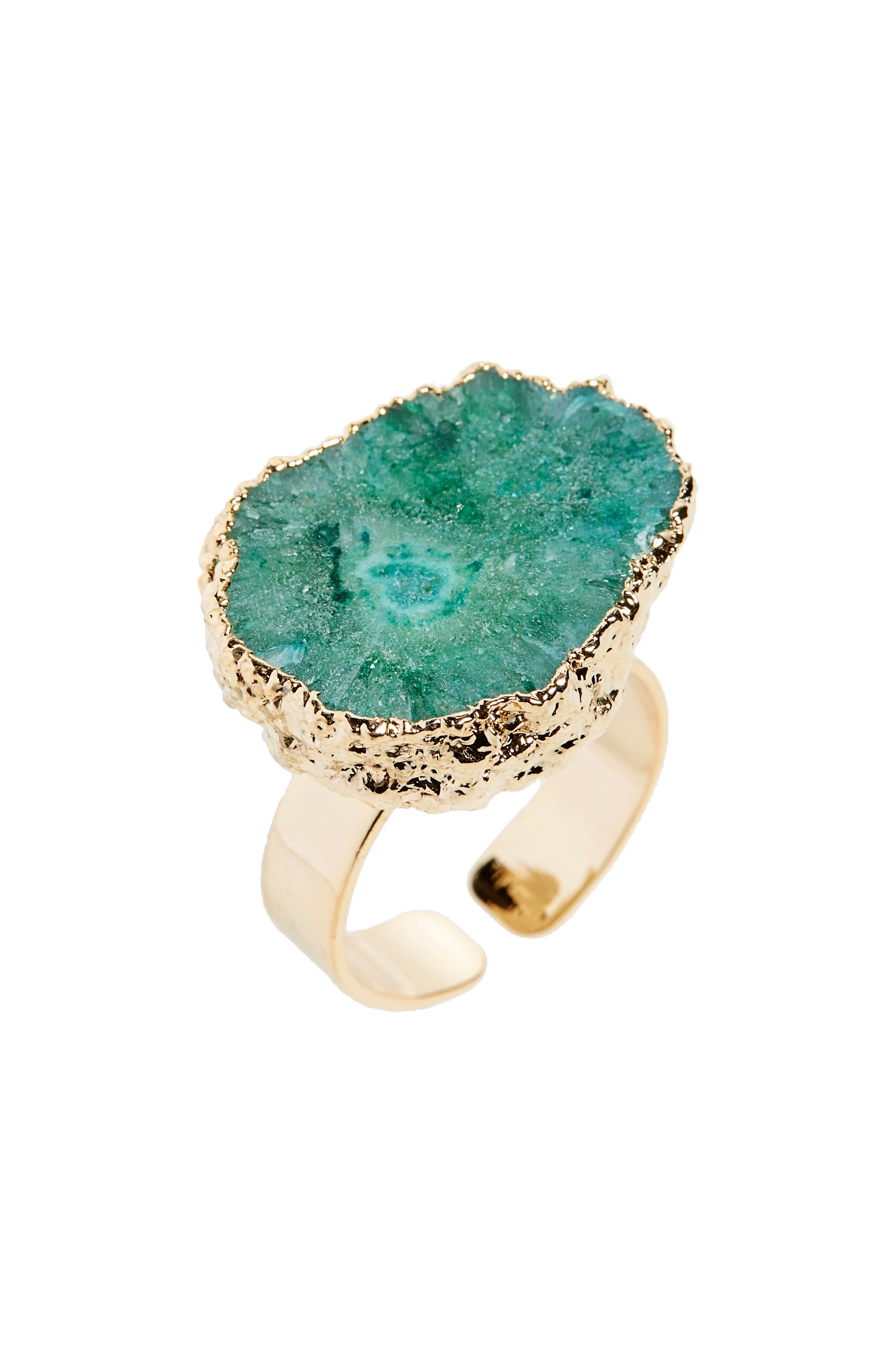 Agate Ring,                         Main,                         color, Green