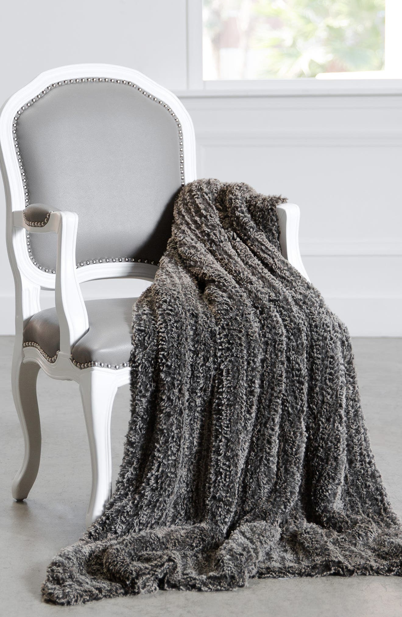 Luxe<sup>™</sup> Knit Throw Blanket,                             Alternate thumbnail 2, color,                             Espresso