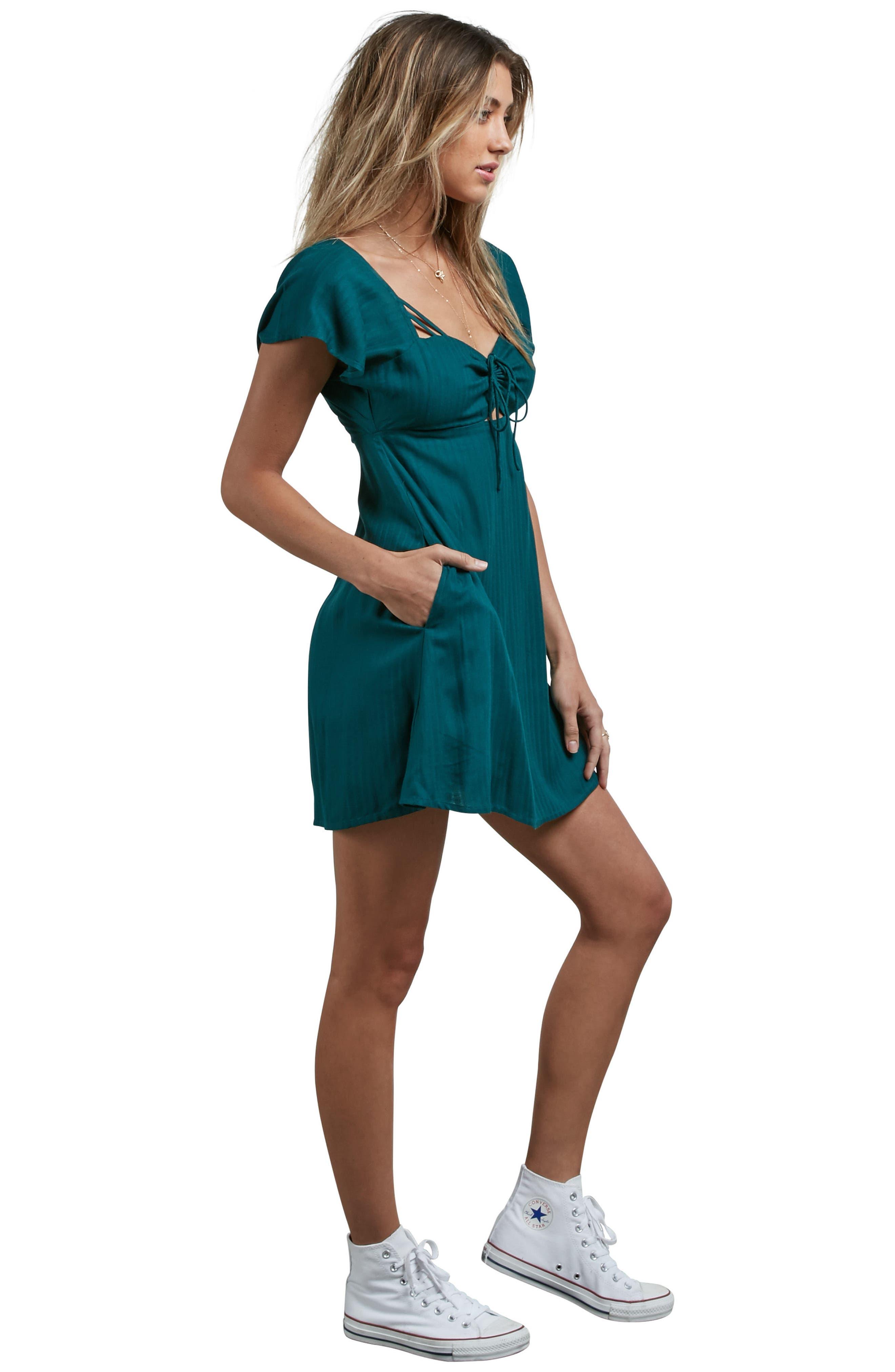 Alternate Image 2  - Volcom It's a Cinch Babydoll Dress