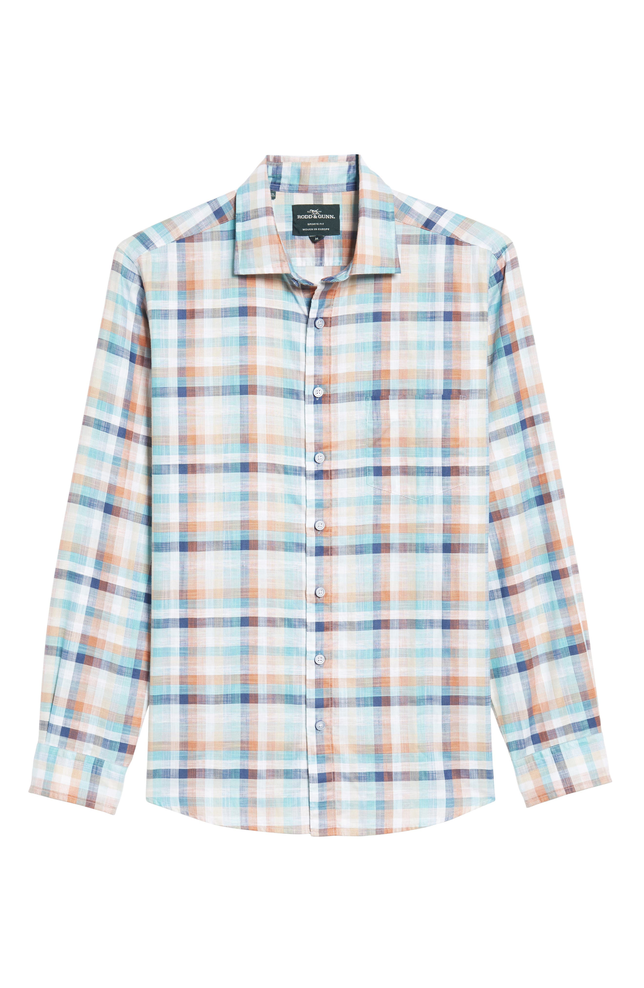 Blackburn Plaid Sport Shirt,                             Alternate thumbnail 6, color,                             Ochre